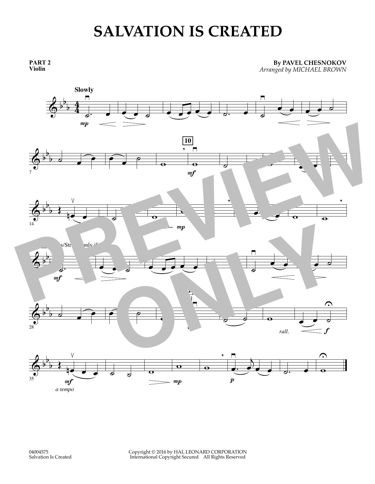 Salvation Is Created - Pt.2 - Violin (Flex-Band)