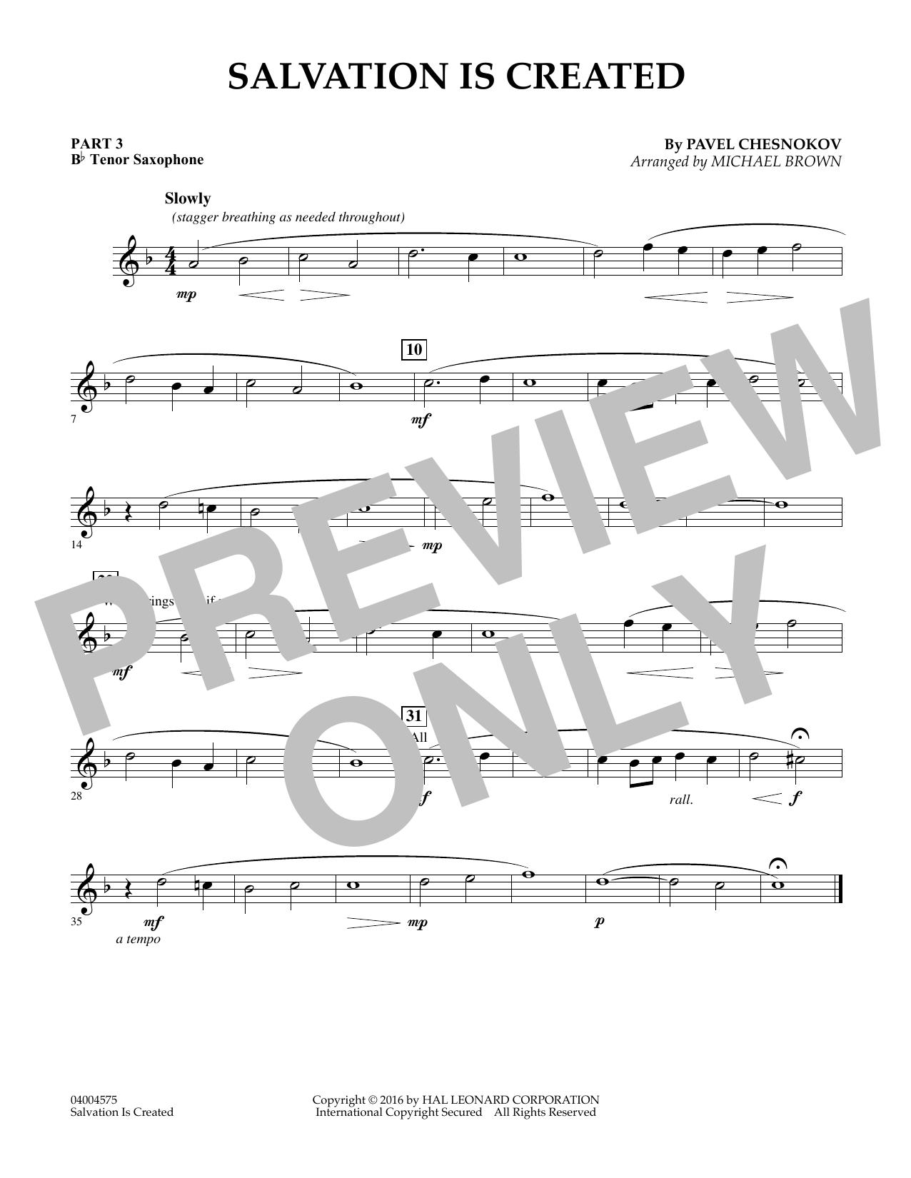 Salvation Is Created - Pt.3 - Bb Tenor Saxophone (Flex-Band)