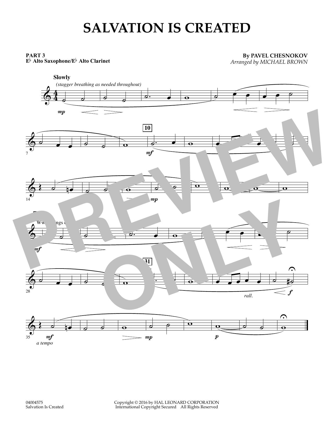 Salvation Is Created - Pt.3 - Eb Alto Sax/Alto Clar. (Flex-Band)