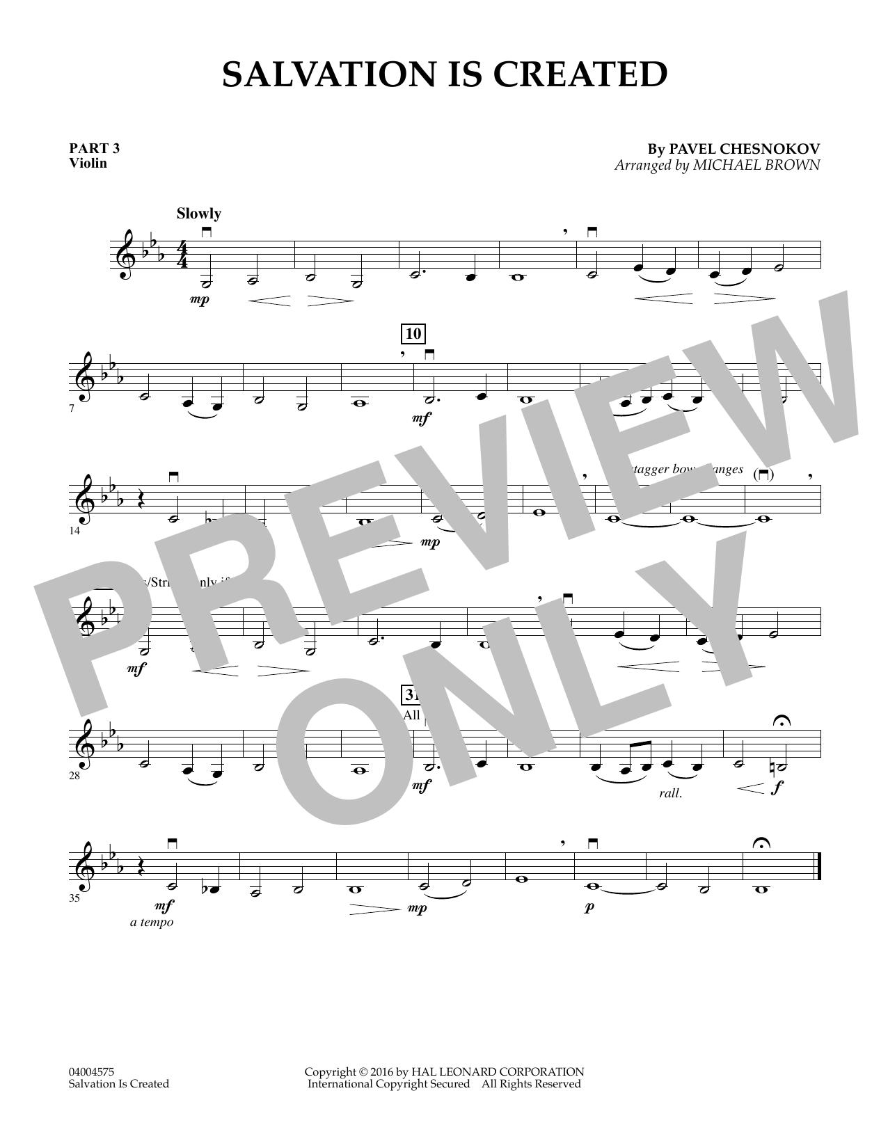 Salvation Is Created - Pt.3 - Violin (Flex-Band)