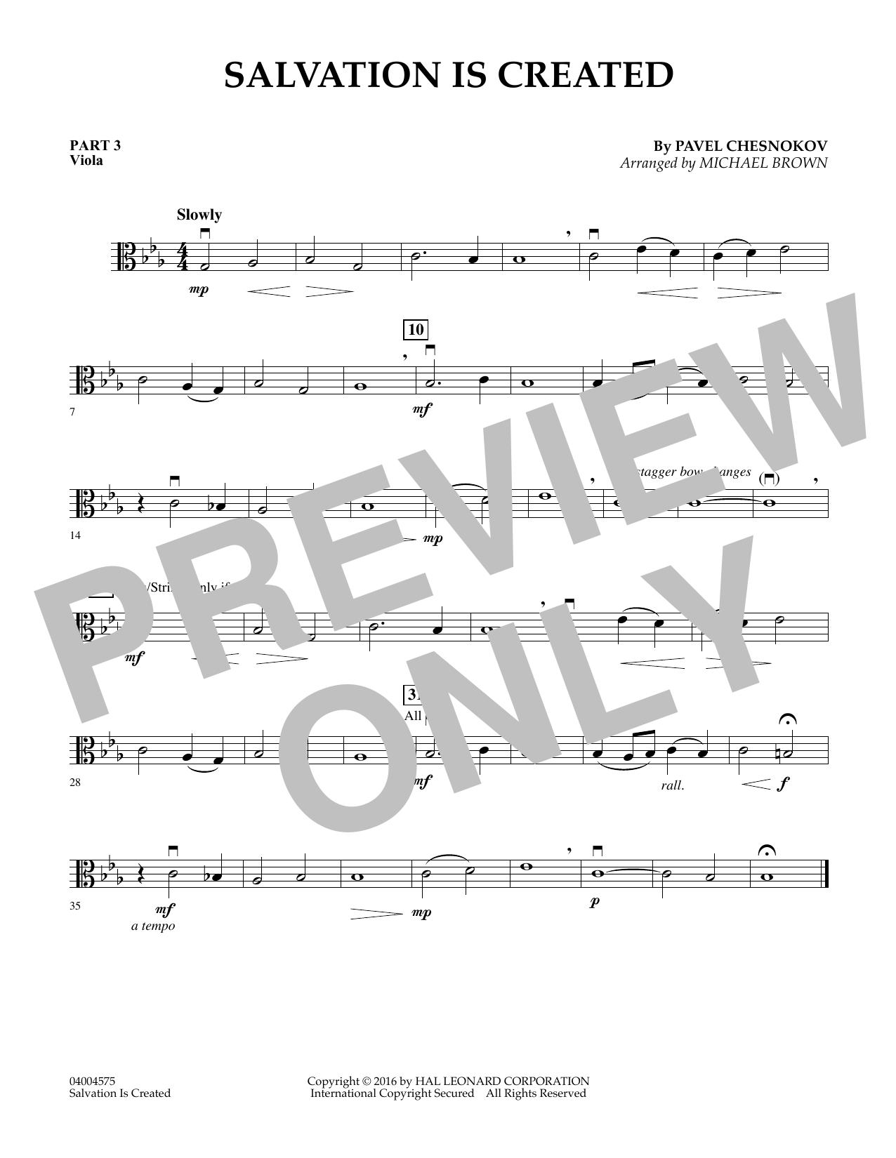 Salvation Is Created - Pt.3 - Viola (Flex-Band)