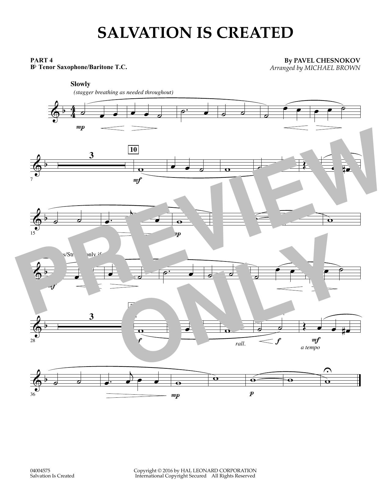 Salvation Is Created - Pt.4 - Bb Tenor Sax/Bar. T.C. (Flex-Band)
