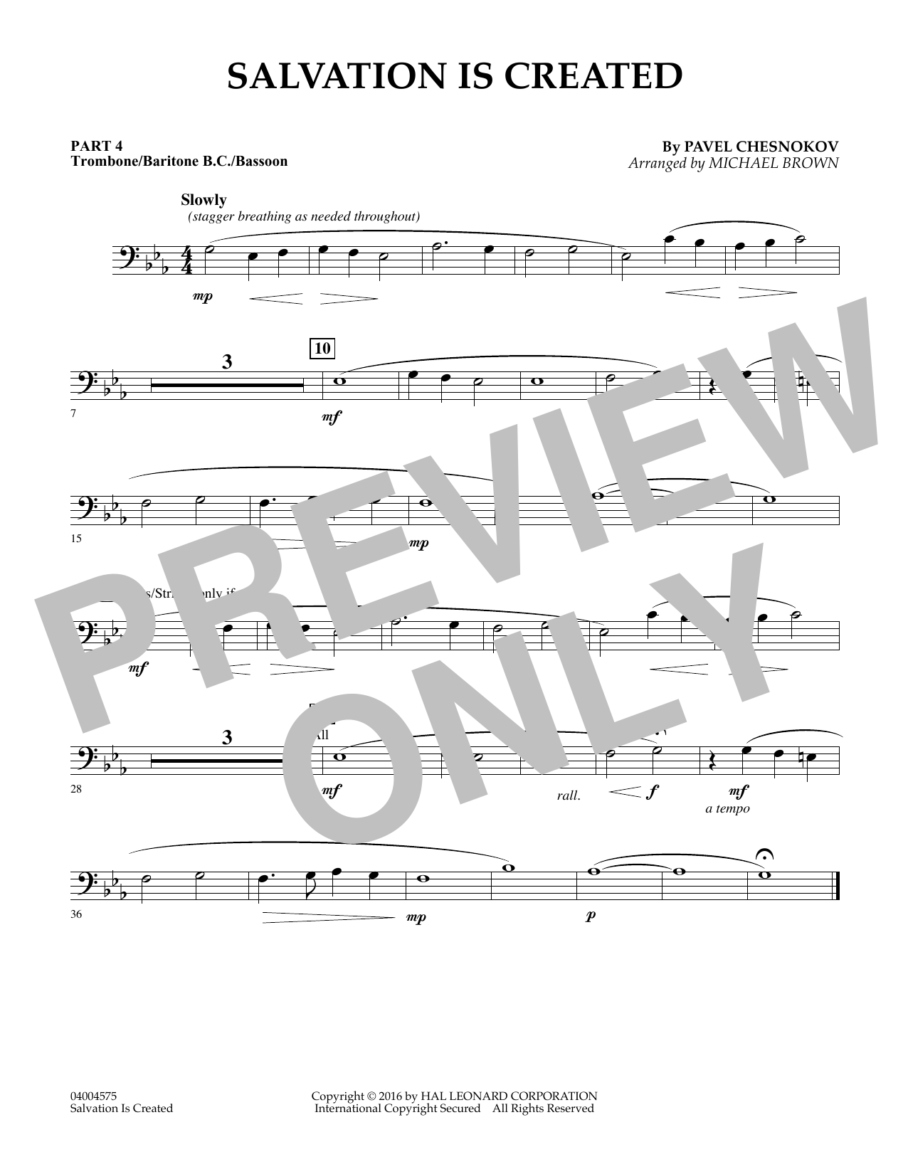 Salvation Is Created - Pt.4 - Trombone/Bar. B.C./Bsn. (Flex-Band)