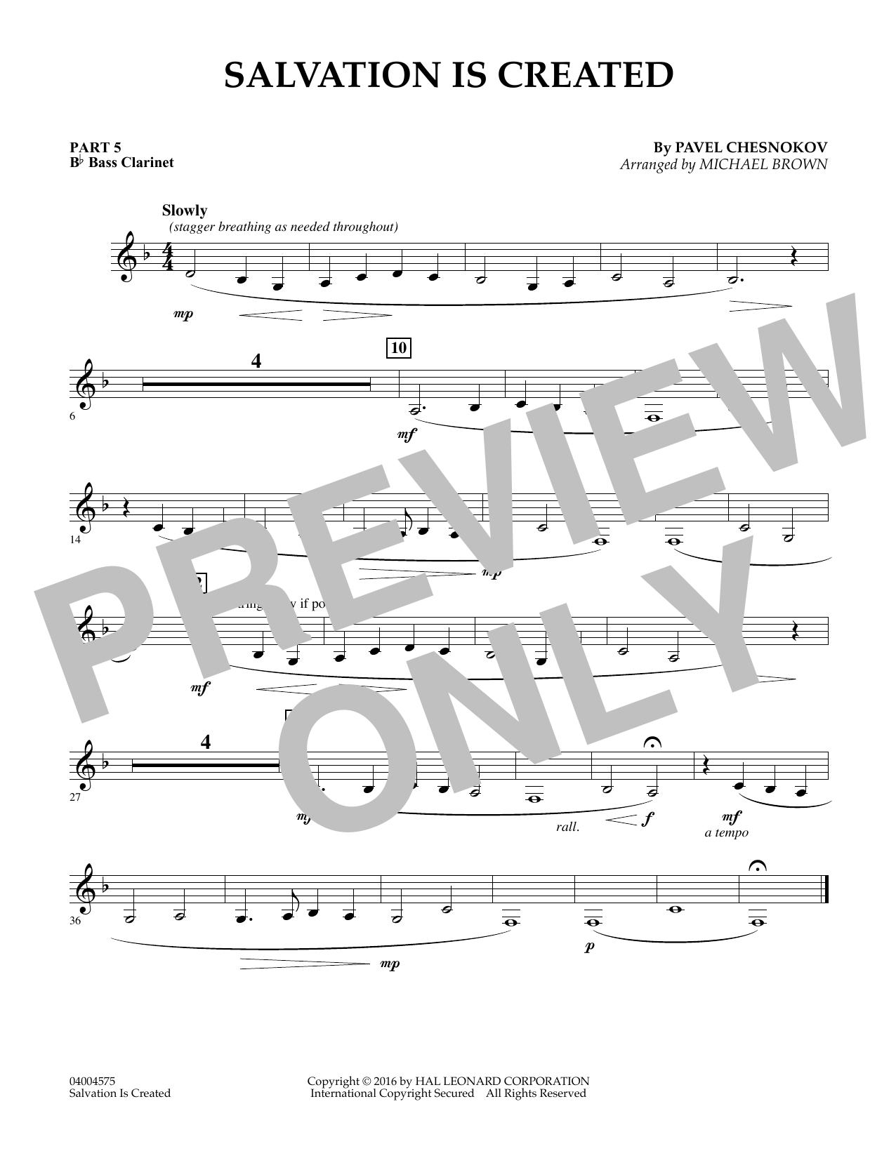 Salvation Is Created - Pt.5 - Bb Bass Clarinet (Flex-Band)