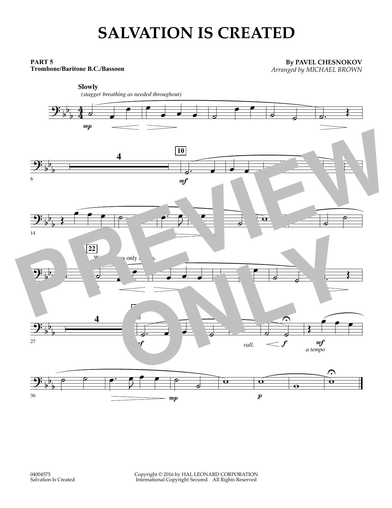 Salvation Is Created - Pt.5 - Trombone/Bar. B.C./Bsn. (Flex-Band)