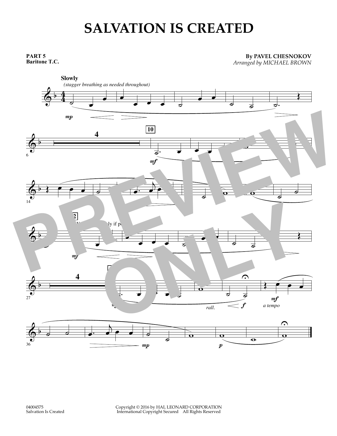 Salvation Is Created - Pt.5 - Baritone T.C. (Flex-Band)