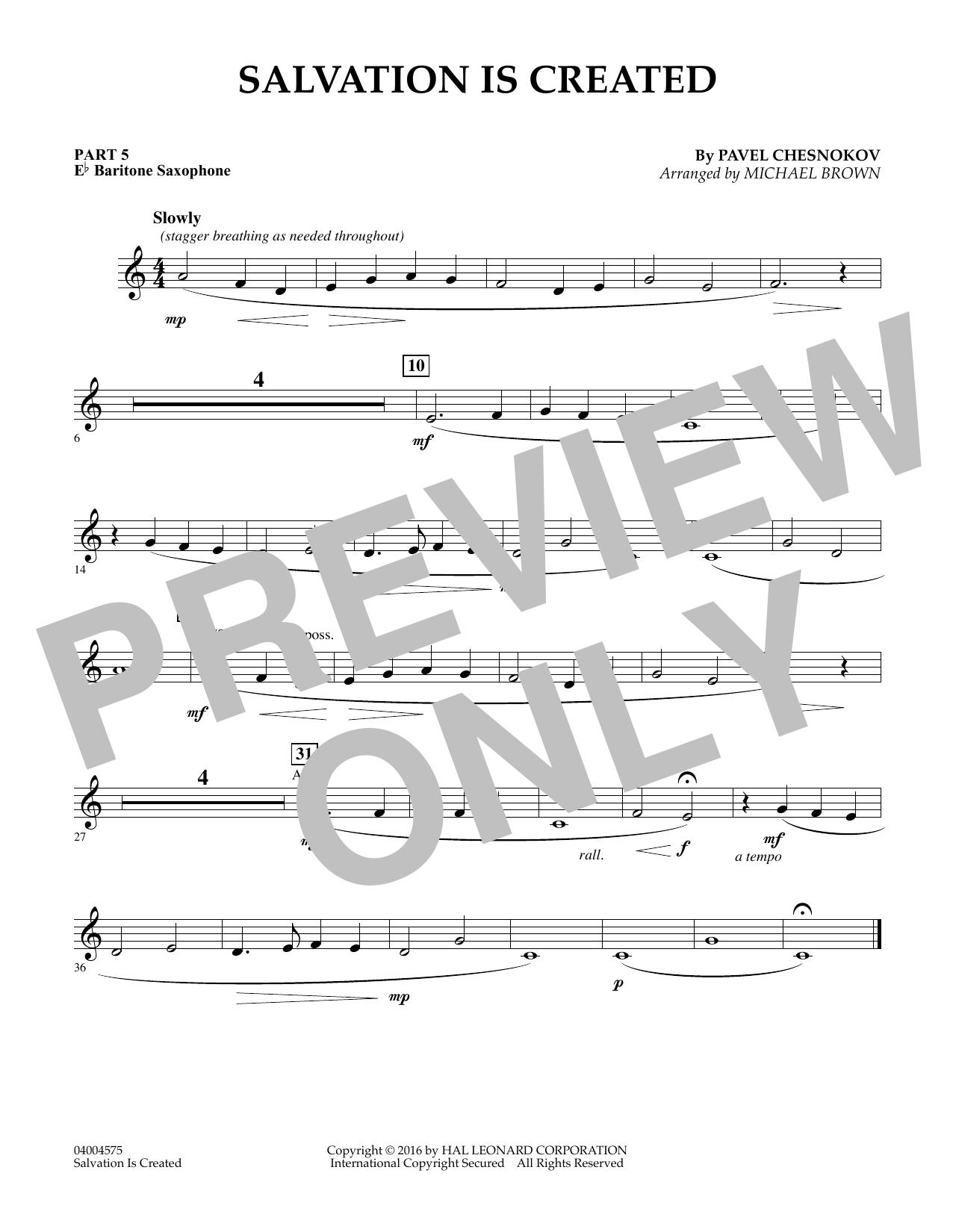 Salvation Is Created - Pt.5 - Eb Baritone Saxophone (Flex-Band)