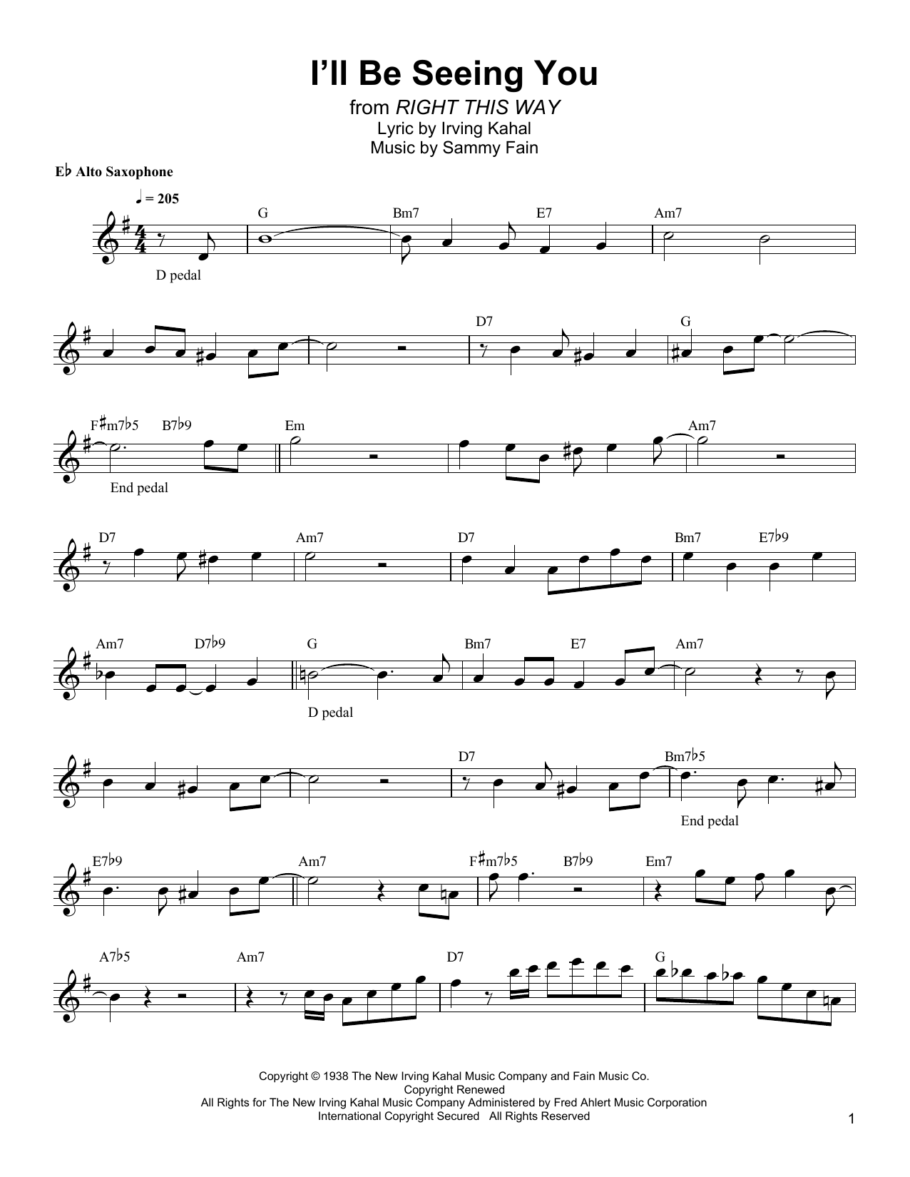 I'll Be Seeing You Sheet Music