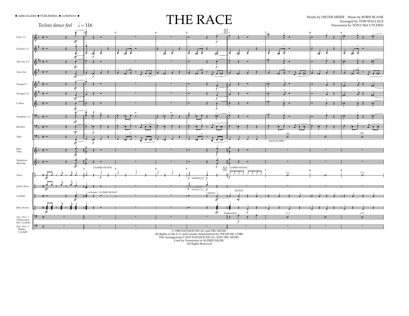 The Race - Full Score (Marching Band)