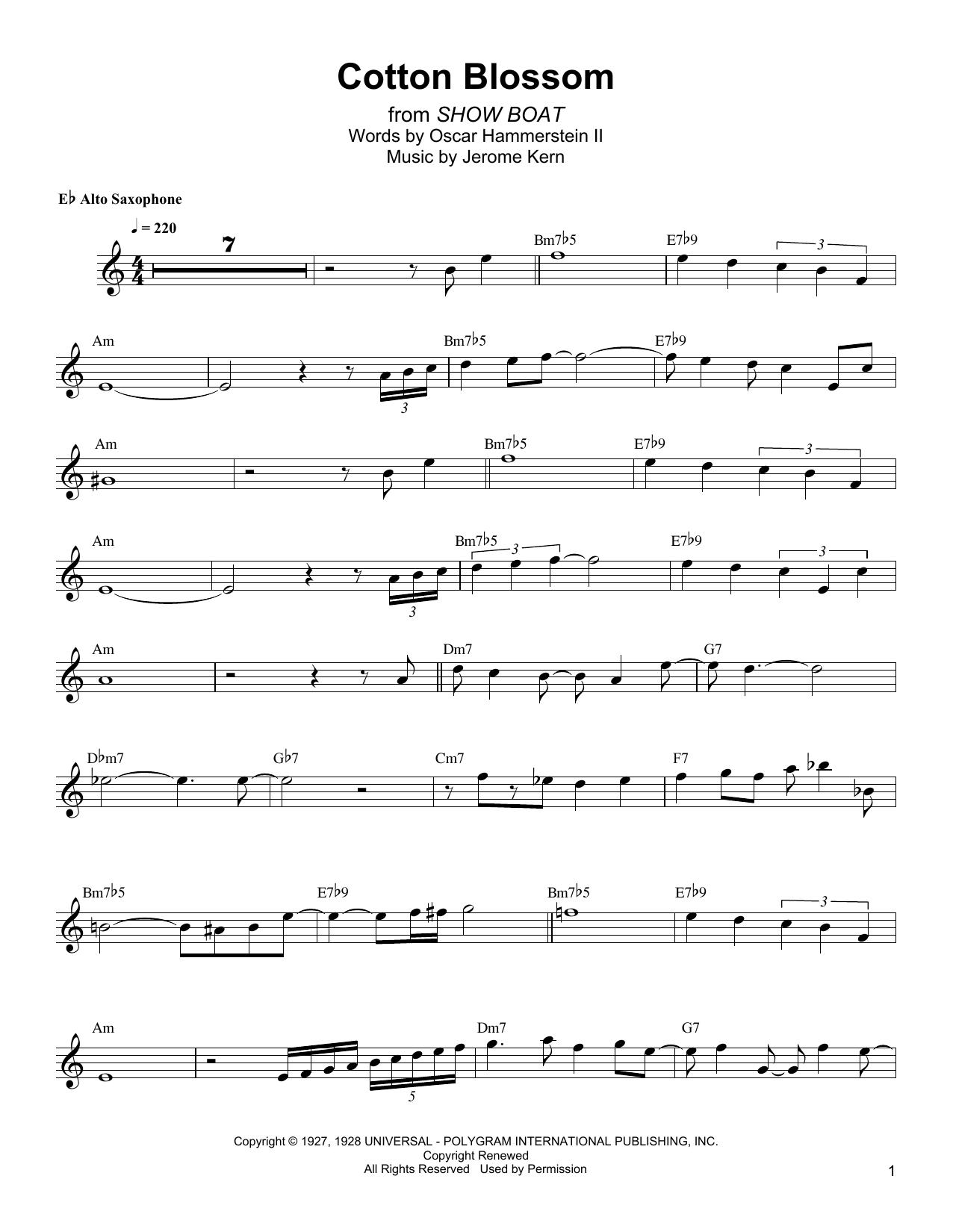 Cotton Blossom Sheet Music