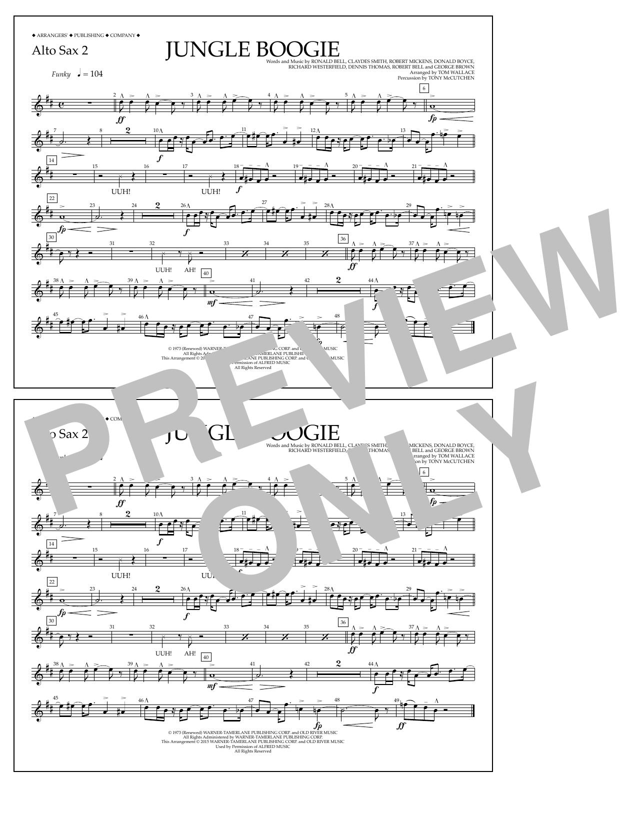 Jungle Boogie - Alto Sax 2 Sheet Music