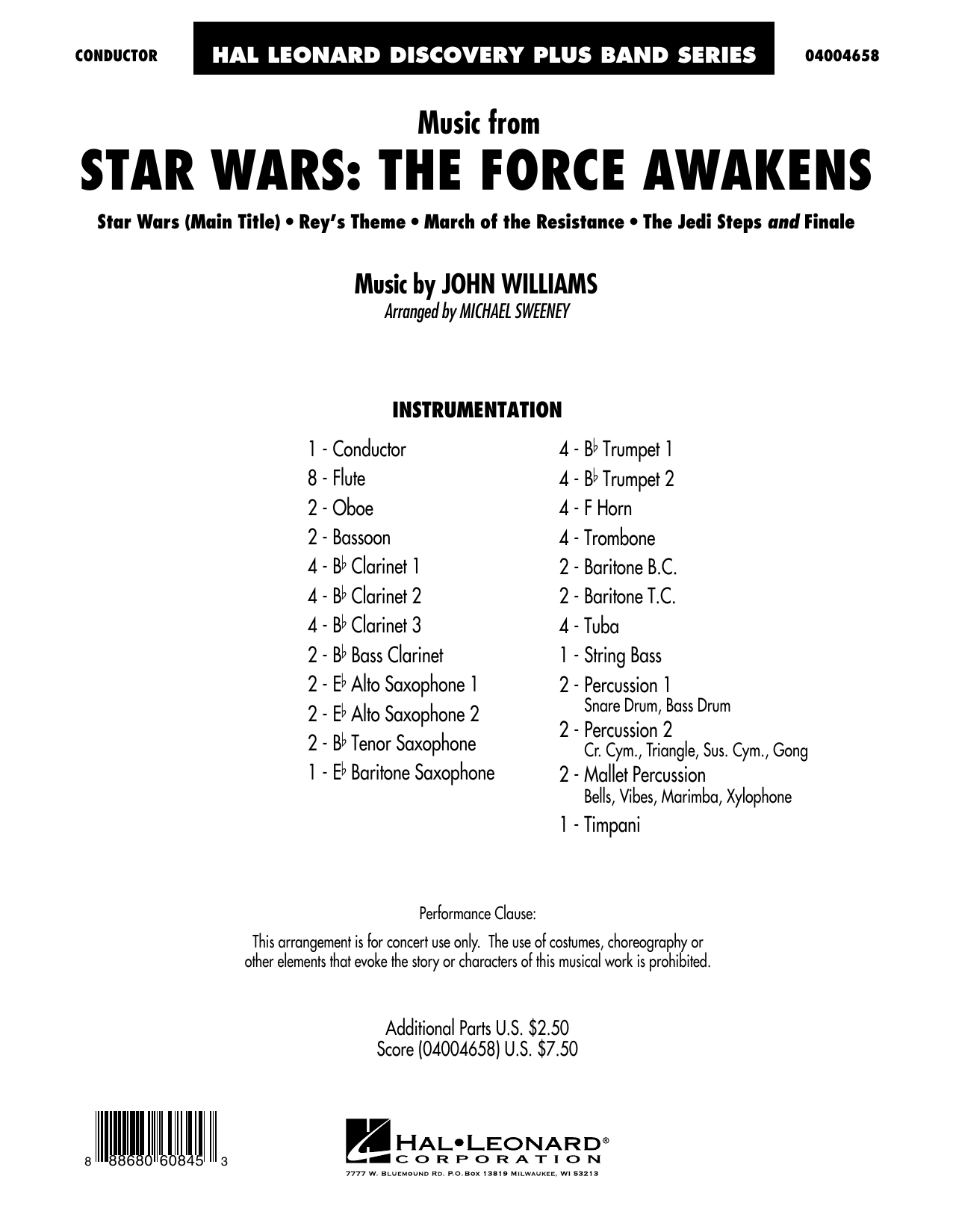Music from Star Wars: The Force Awakens - Conductor Score (Full Score) (Concert Band)