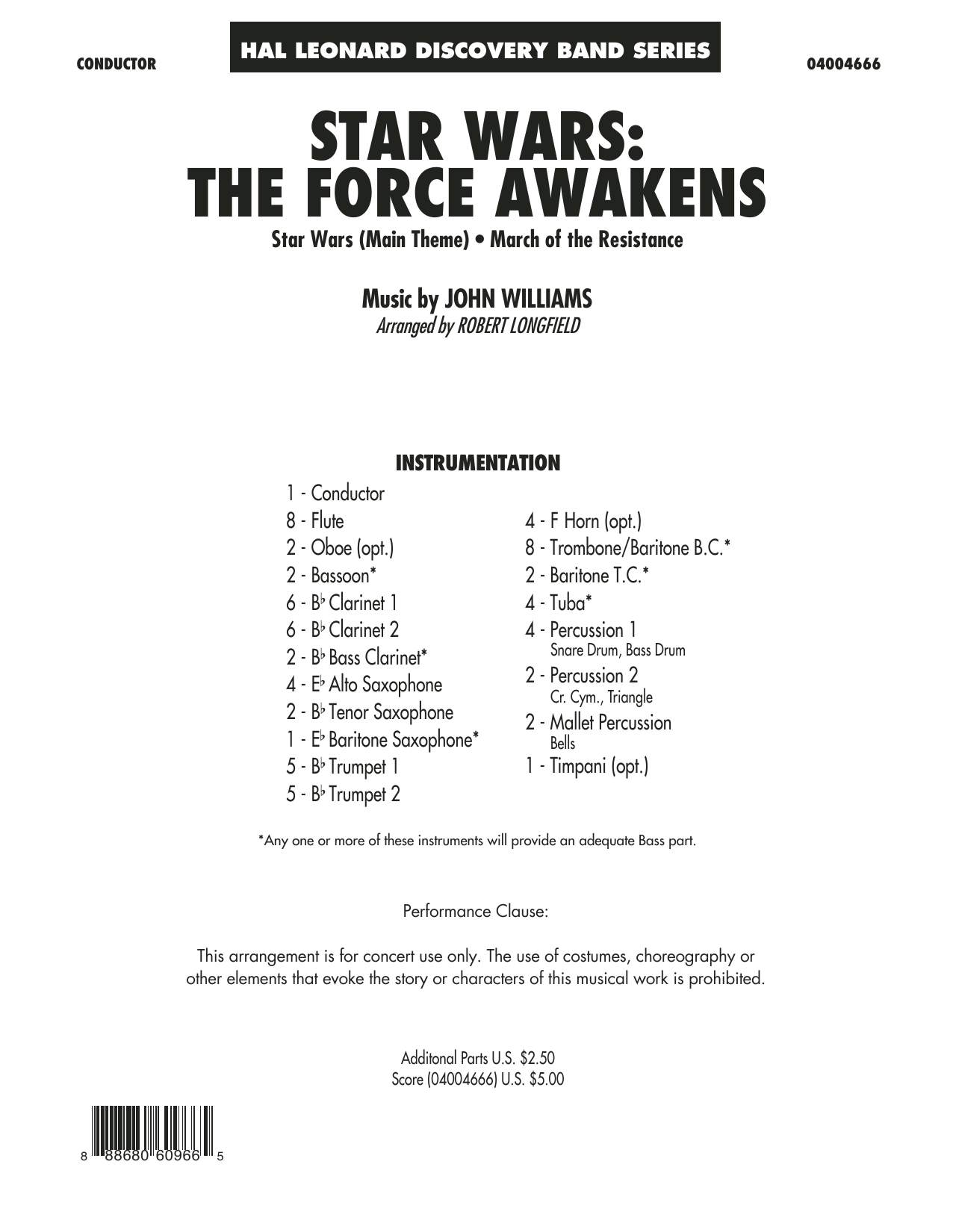 Star Wars: The Force Awakens - Conductor Score (Full Score) (Concert Band)