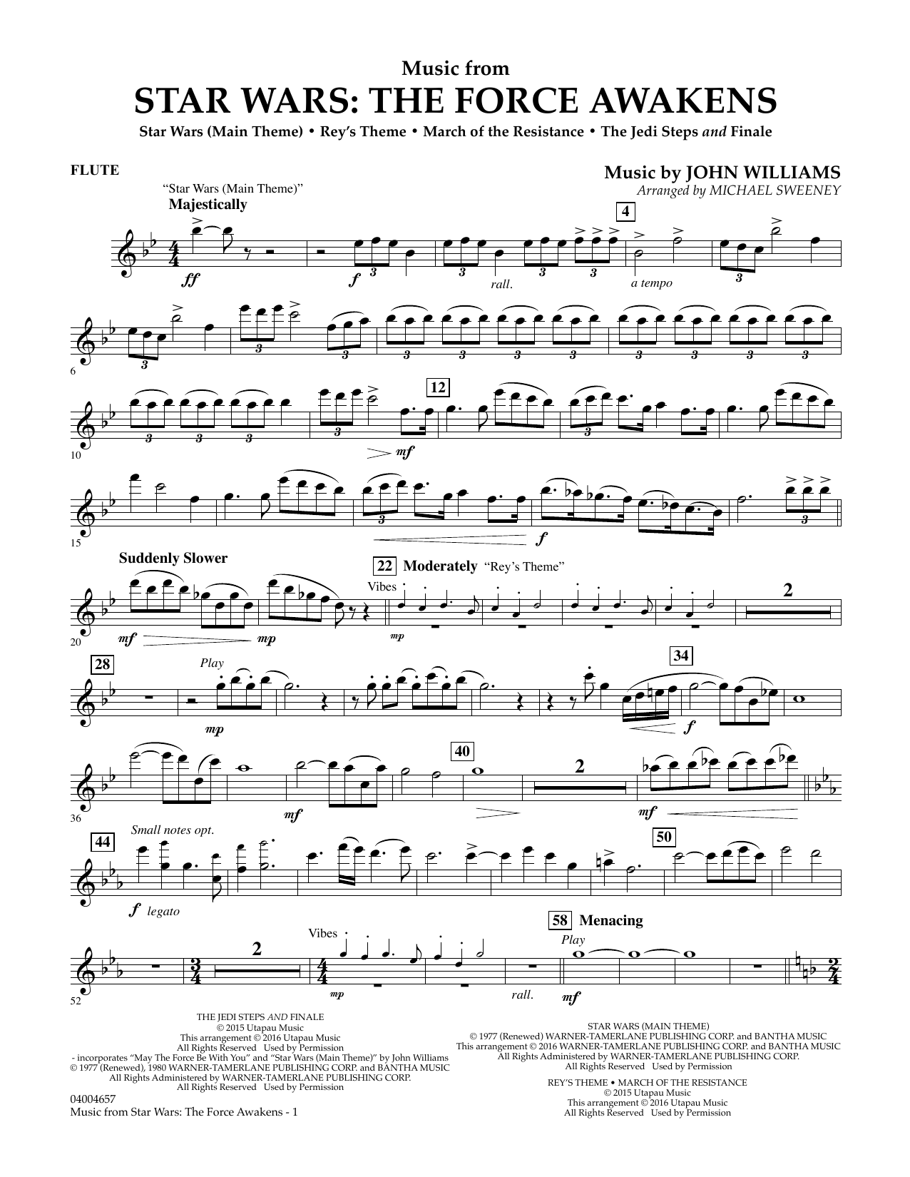 Music from Star Wars: The Force Awakens - Flute (Concert Band)
