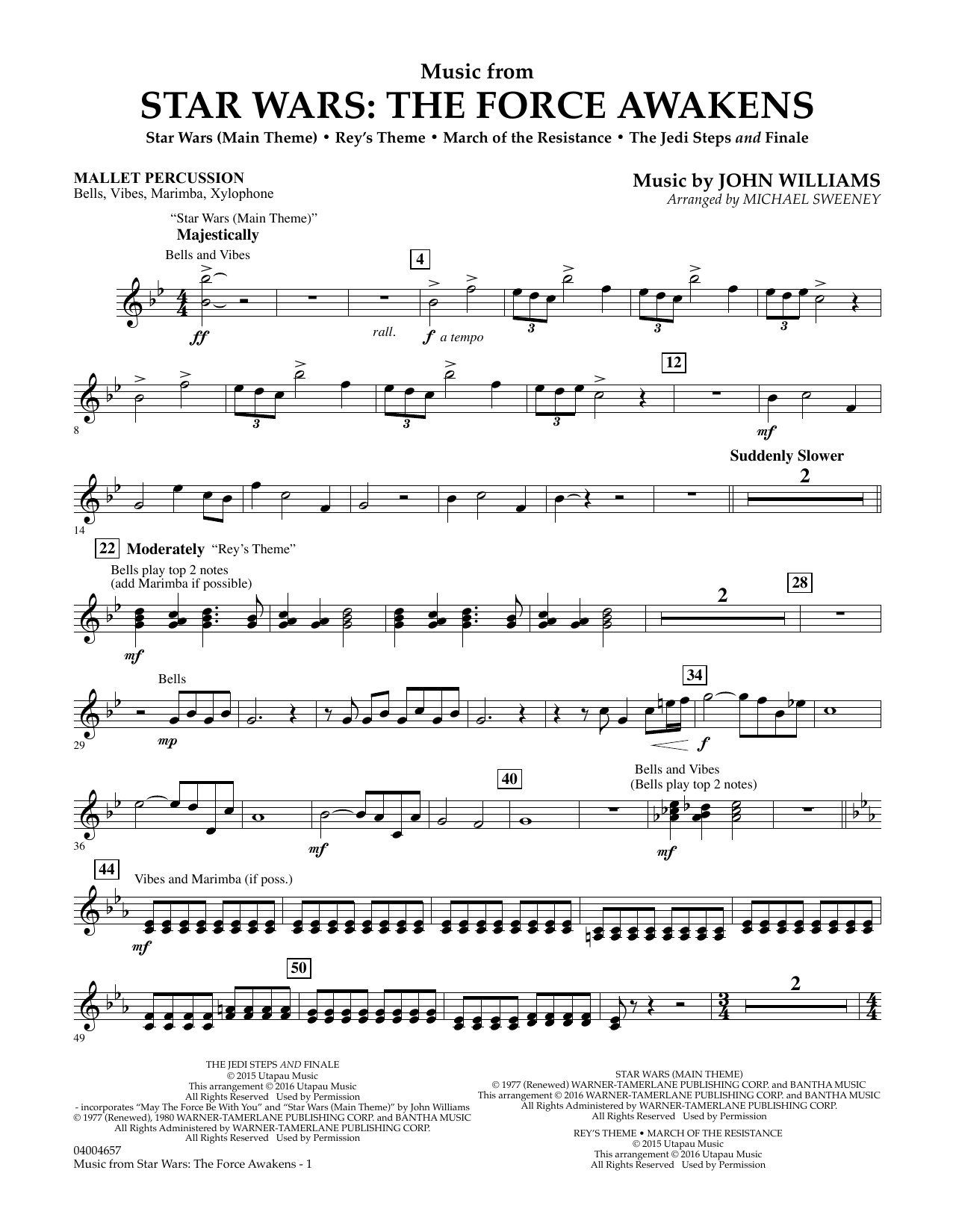 Music from Star Wars: The Force Awakens - Mallet Percussion (Concert Band)