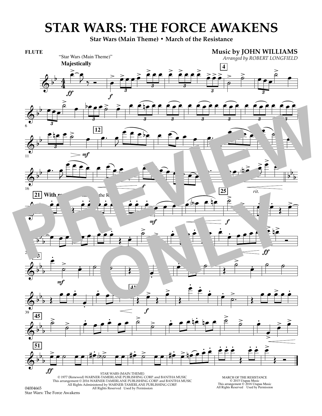 Star Wars: The Force Awakens - Flute (Concert Band)