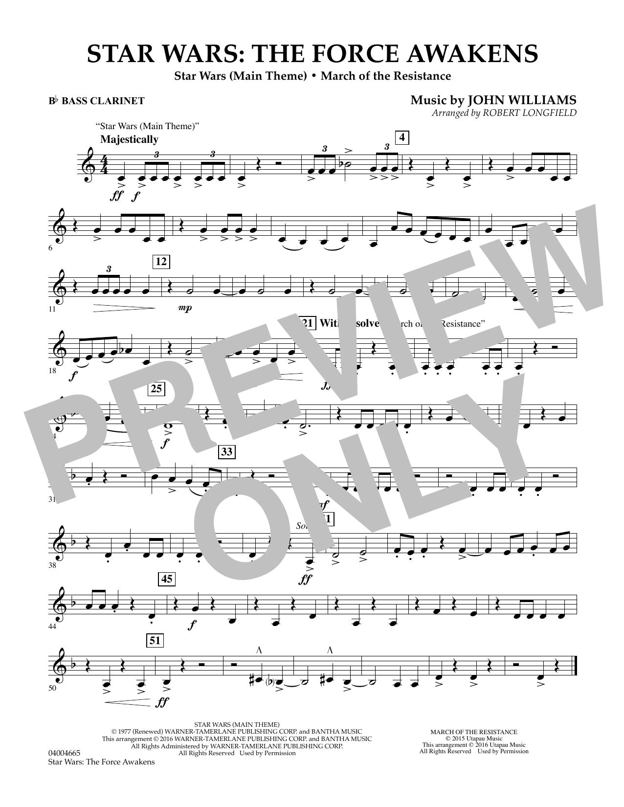 Star Wars: The Force Awakens - Bb Bass Clarinet (Concert Band)