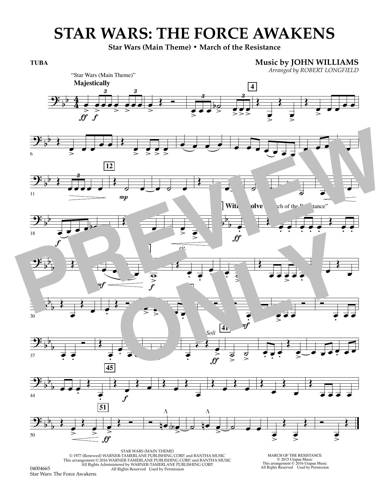 Star Wars: The Force Awakens - Tuba (Concert Band)