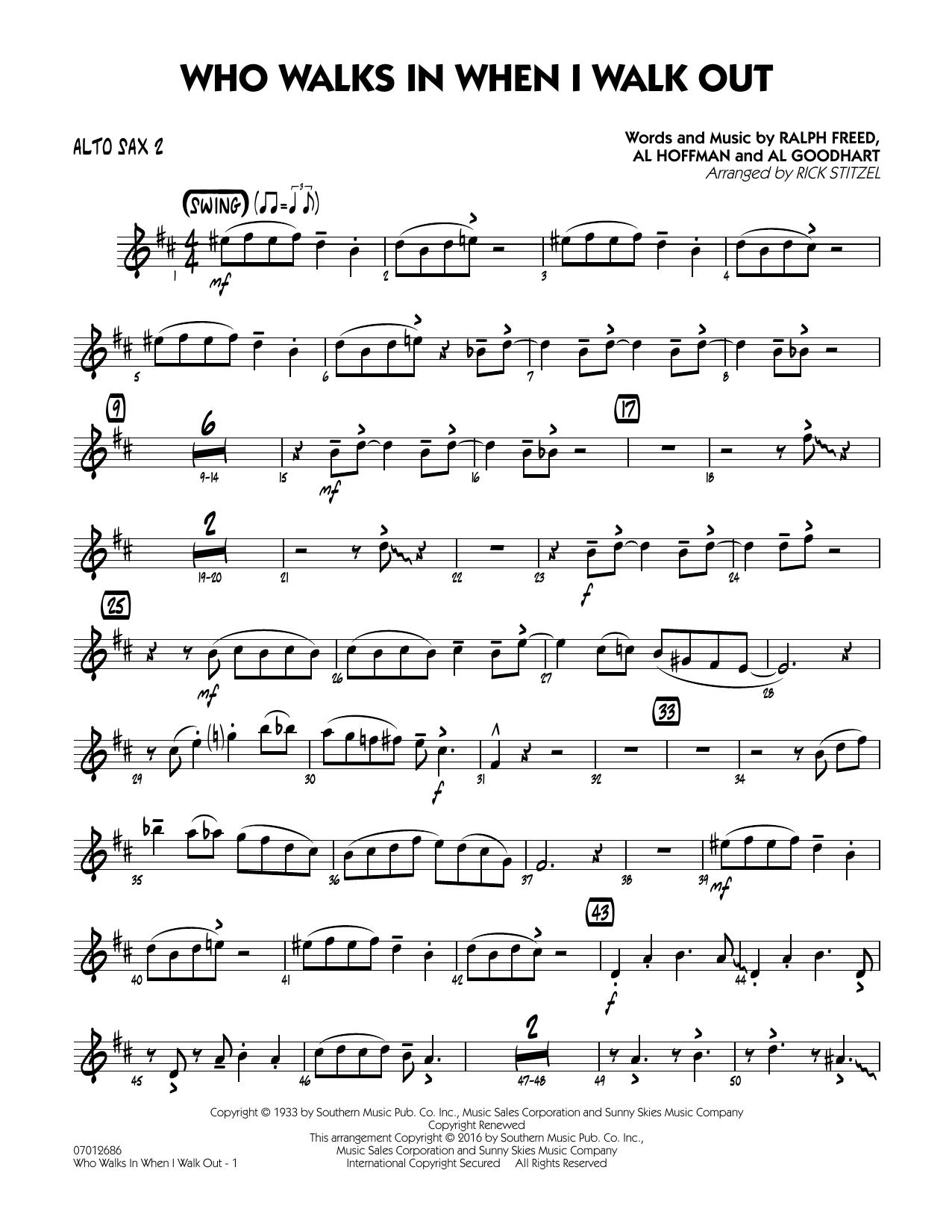 Who Walks In When I Walk Out? (Key: D minor) - Alto Sax 2 (Jazz Ensemble)