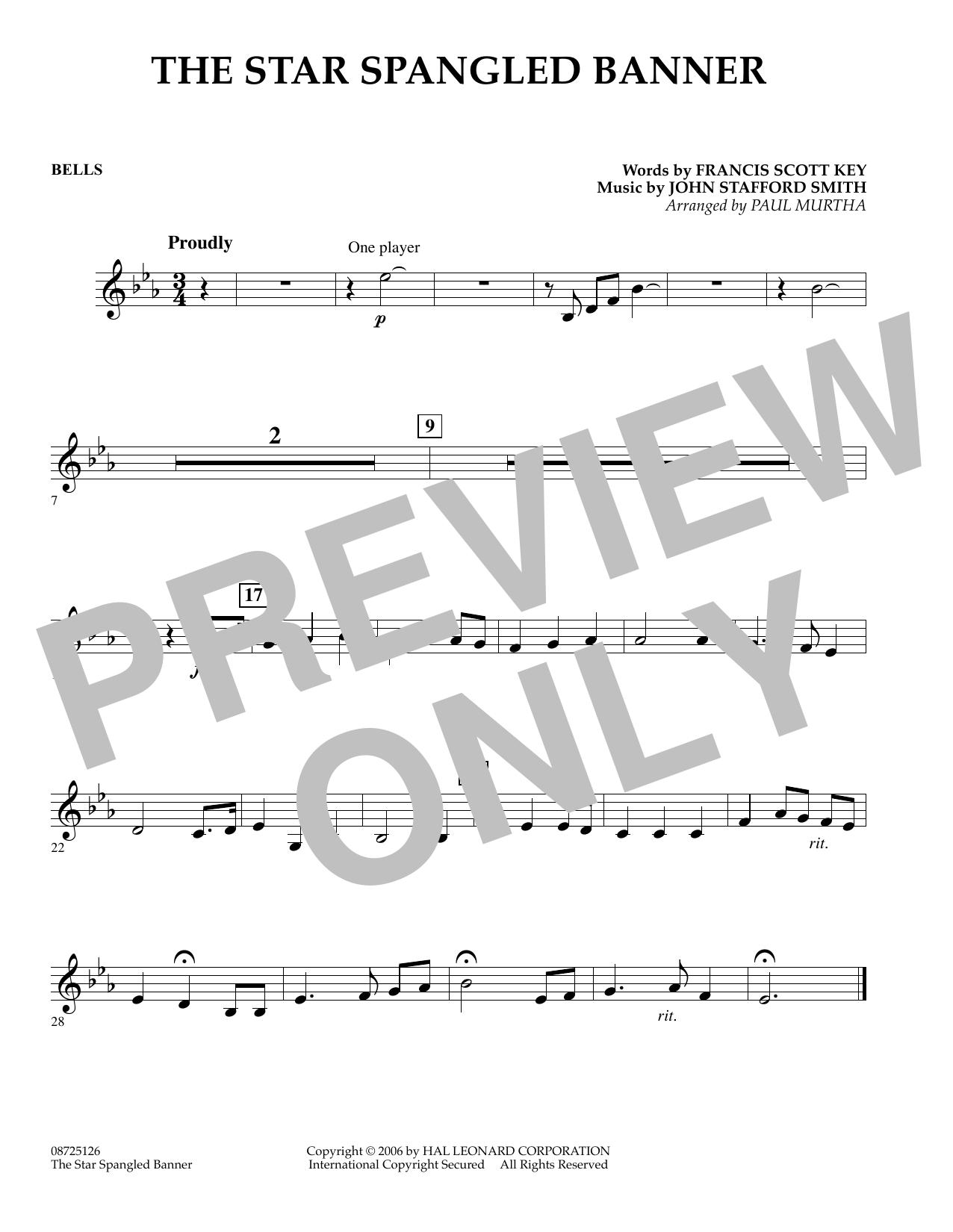 The Star Spangled Banner - Bells (Concert Band)
