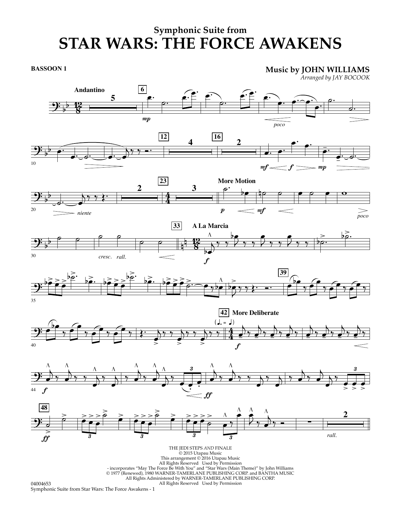 Symphonic Suite from Star Wars: The Force Awakens - Bassoon 1 (Concert Band)