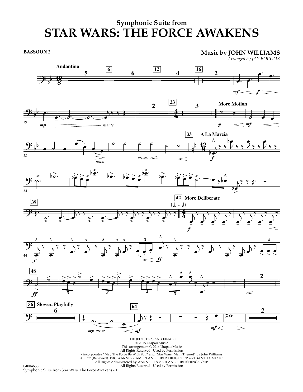 Symphonic Suite from Star Wars: The Force Awakens - Bassoon 2 (Concert Band)