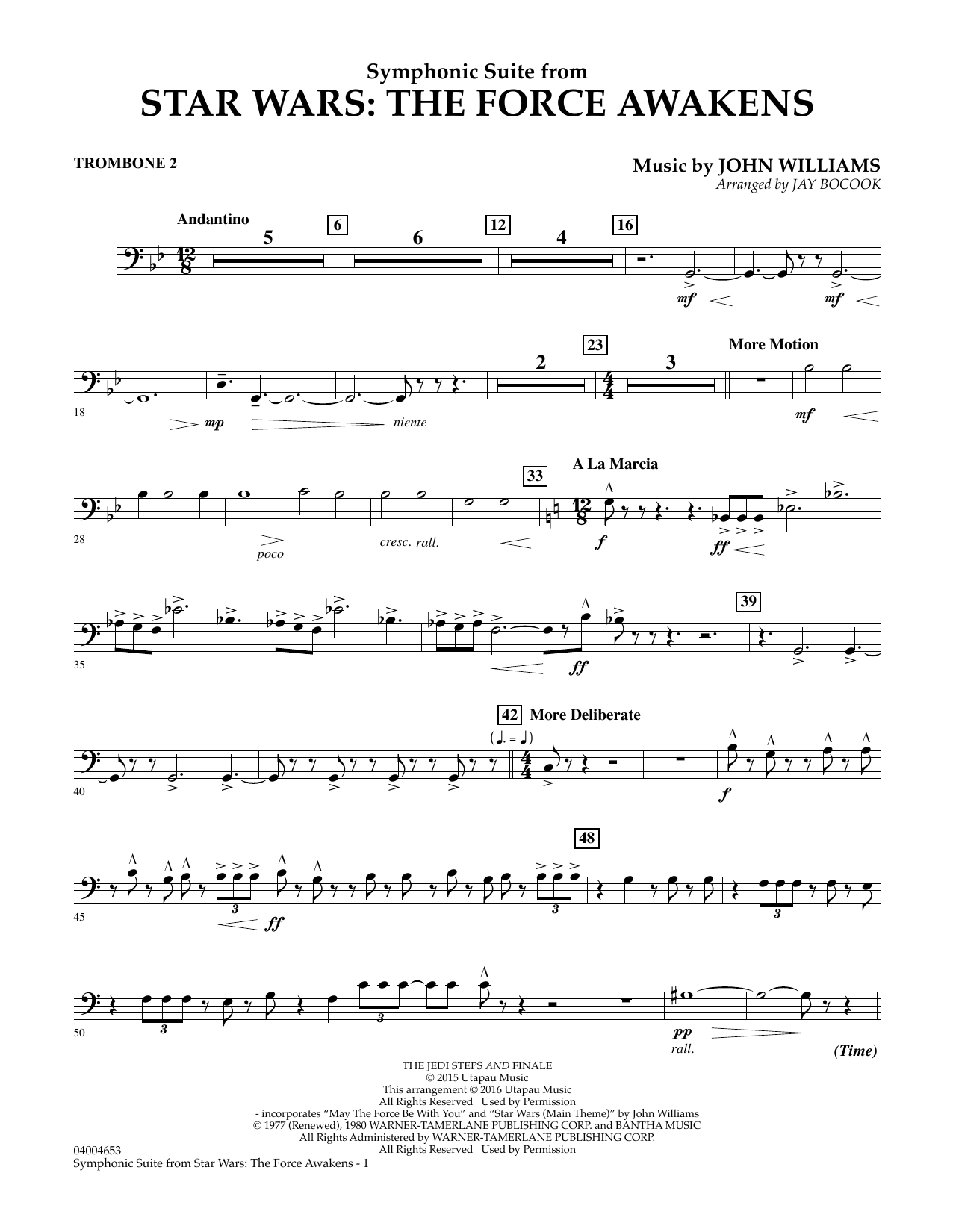 Symphonic Suite from Star Wars: The Force Awakens - Trombone 2 (Concert Band)