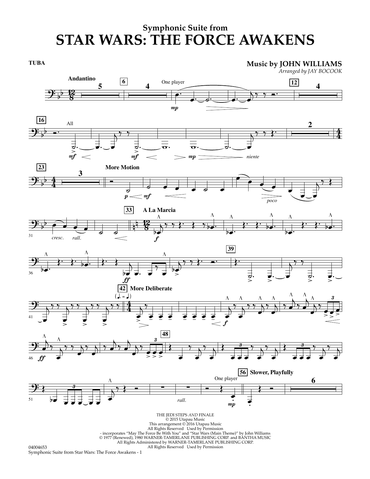 Symphonic Suite from Star Wars: The Force Awakens - Tuba (Concert Band)