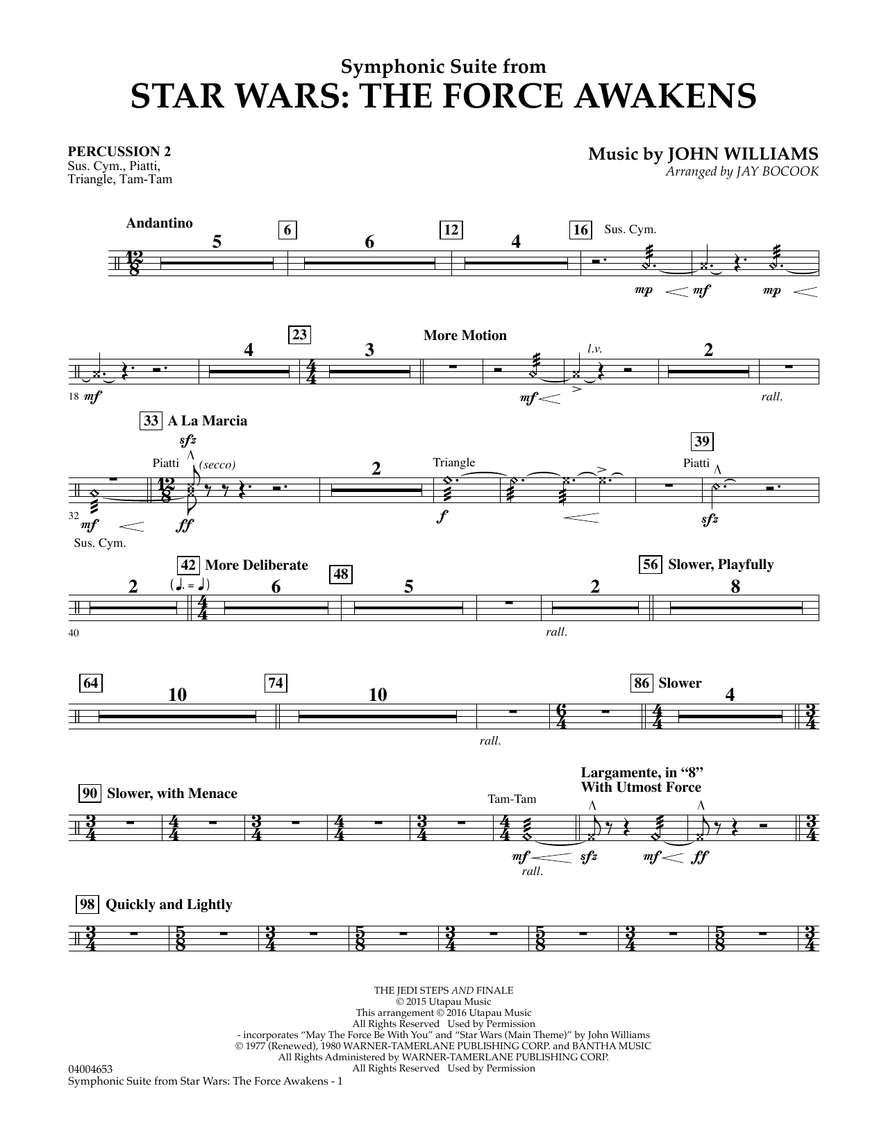 Symphonic Suite from Star Wars: The Force Awakens - Percussion 2 (Concert Band)