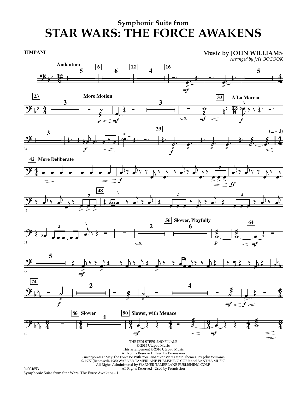 Symphonic Suite from Star Wars: The Force Awakens - Timpani (Concert Band)