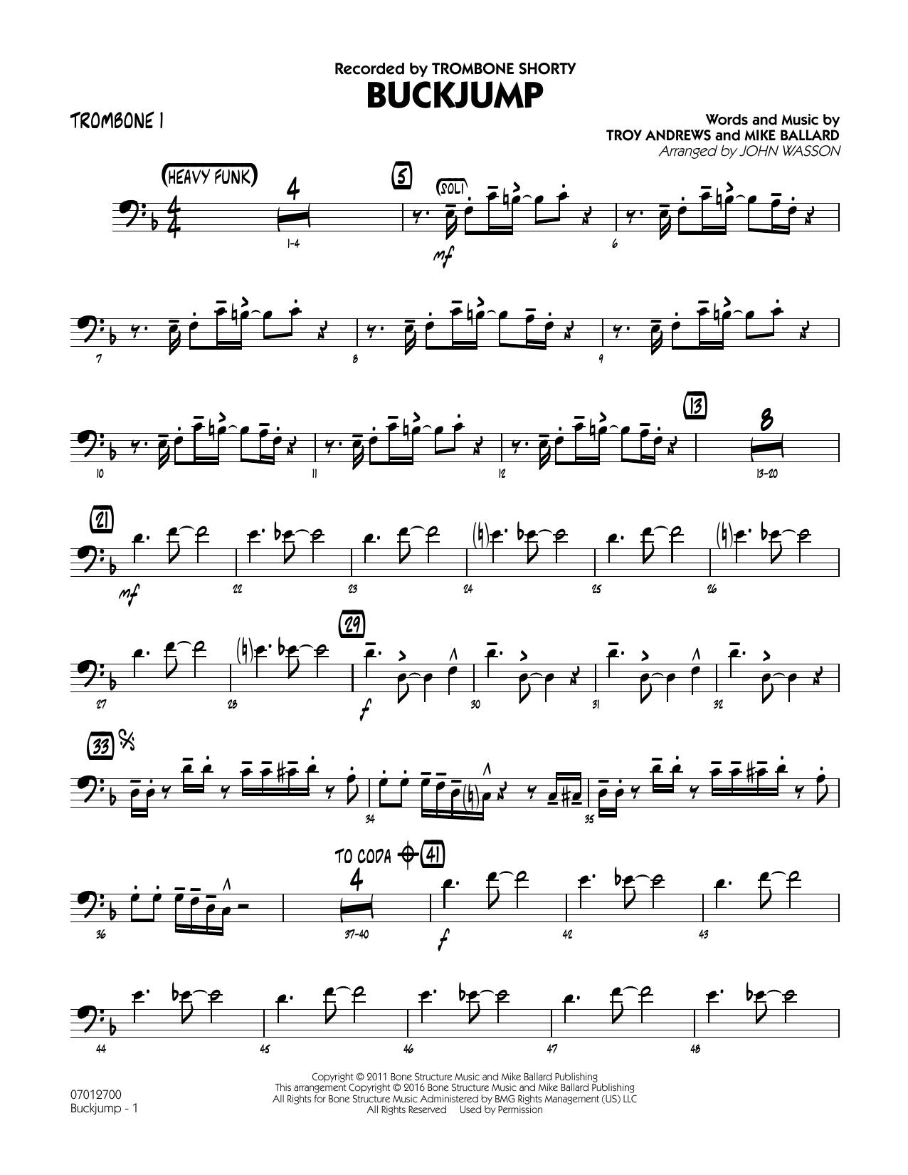 Buckjump - Trombone 1 (Jazz Ensemble)
