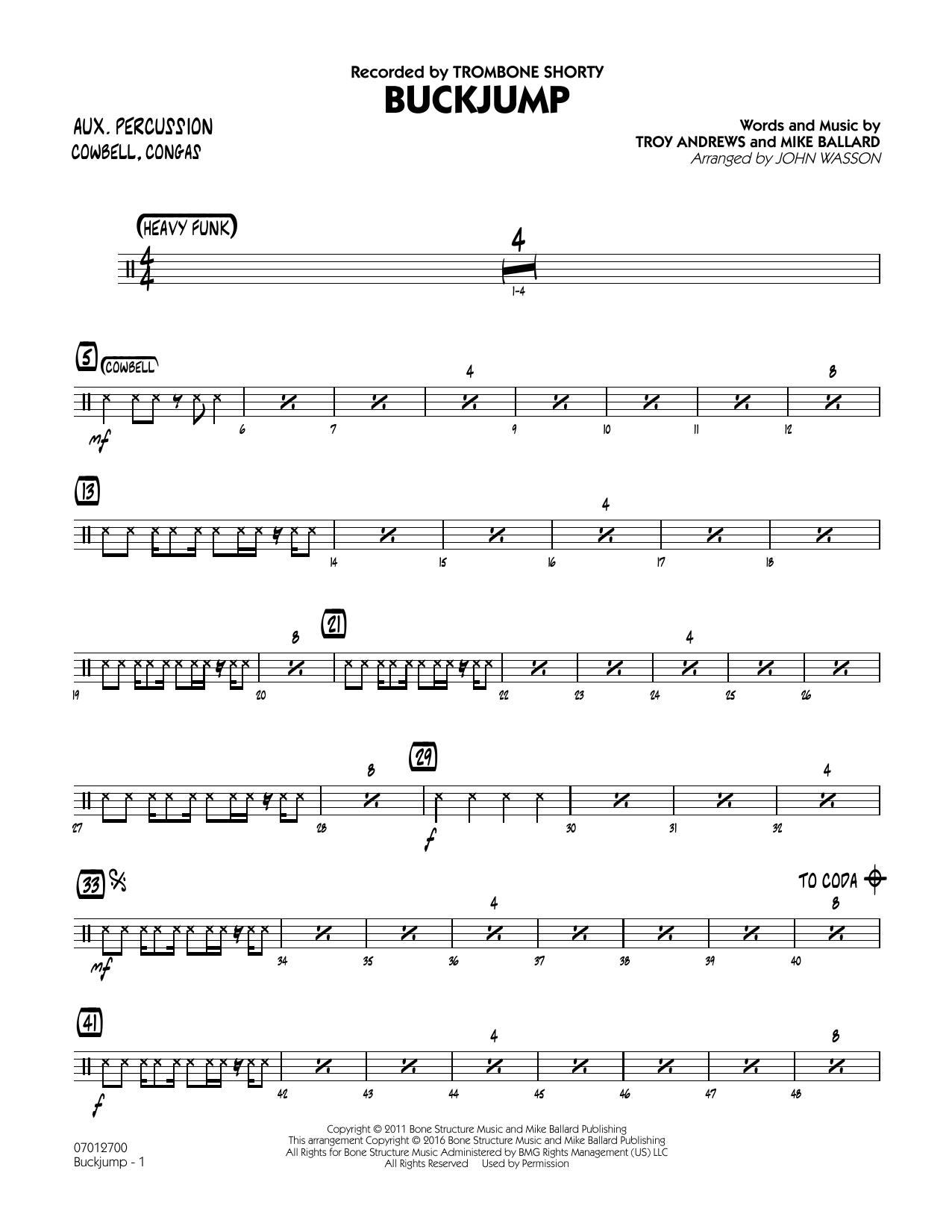 Buckjump - Aux Percussion (Jazz Ensemble)