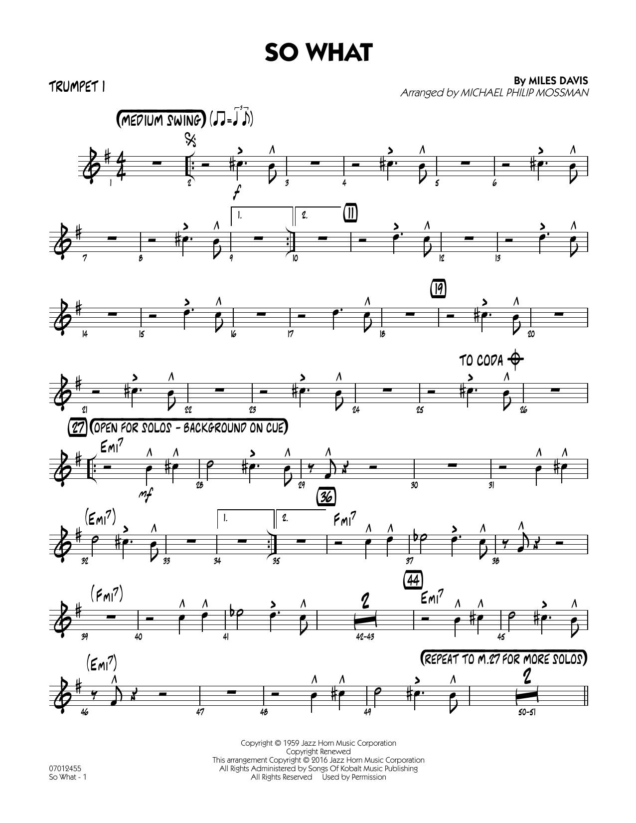 So What - Trumpet 1 (Jazz Ensemble)