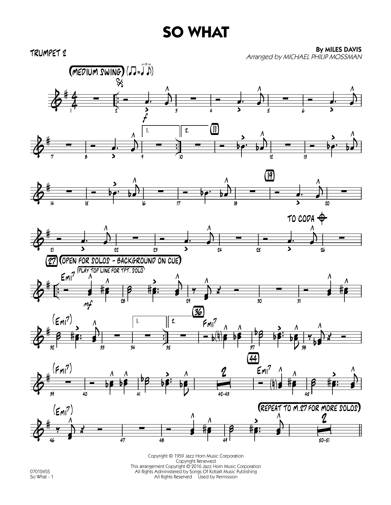 So What - Trumpet 2 (Jazz Ensemble)