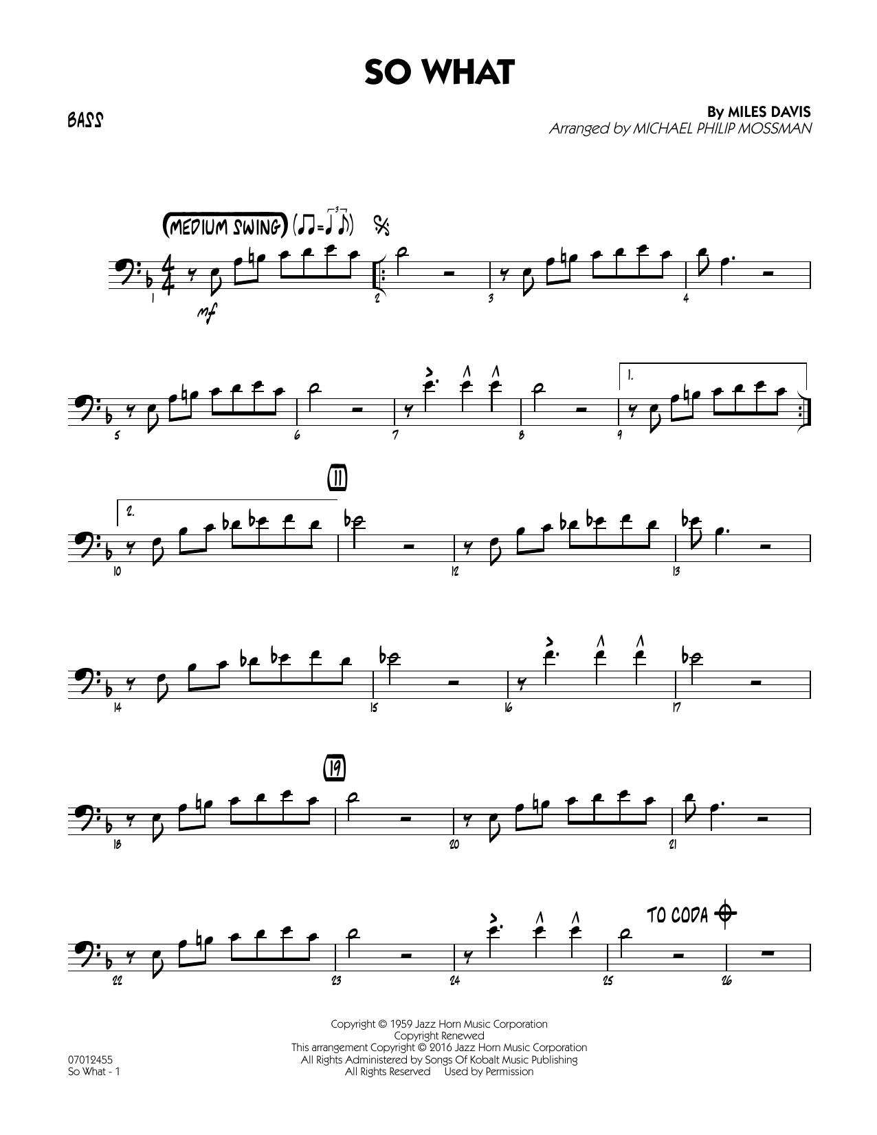 So What - Bass (Jazz Ensemble)