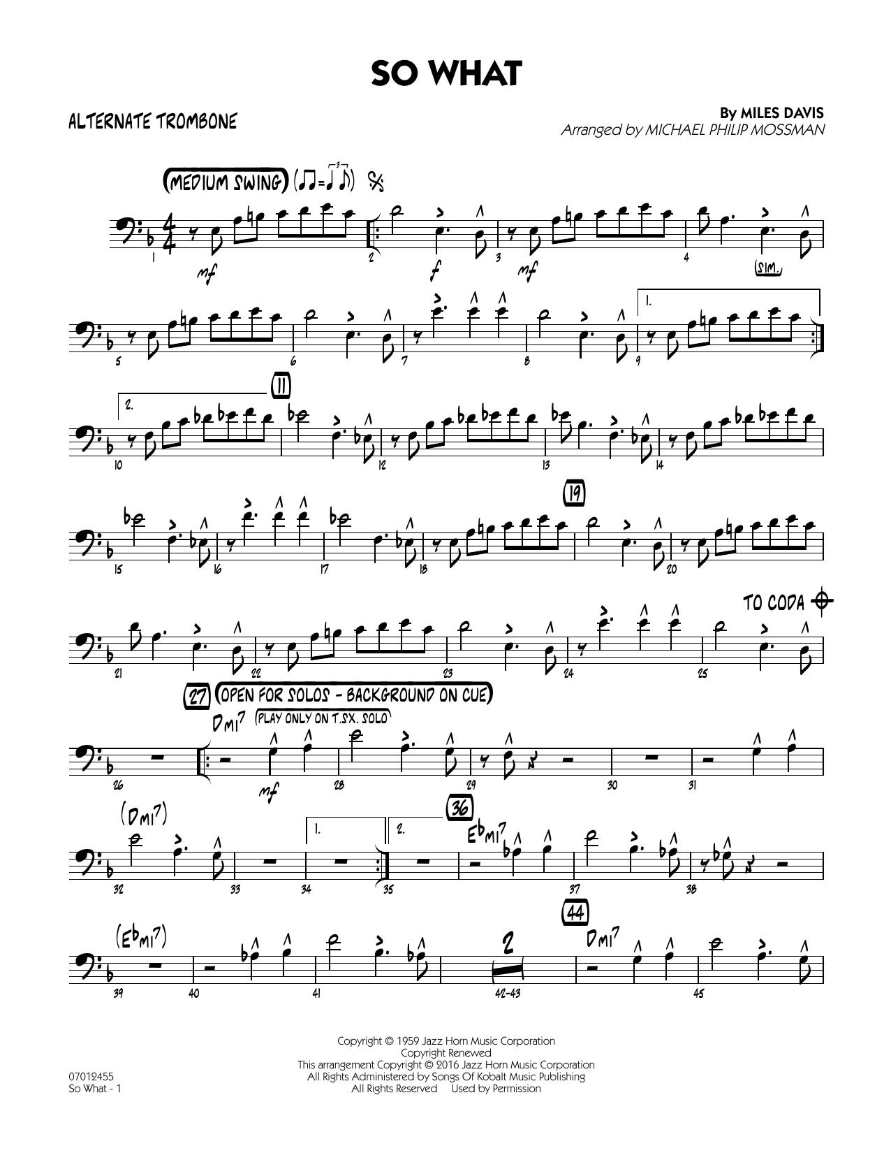 So What - Alternate Trombone (Jazz Ensemble)