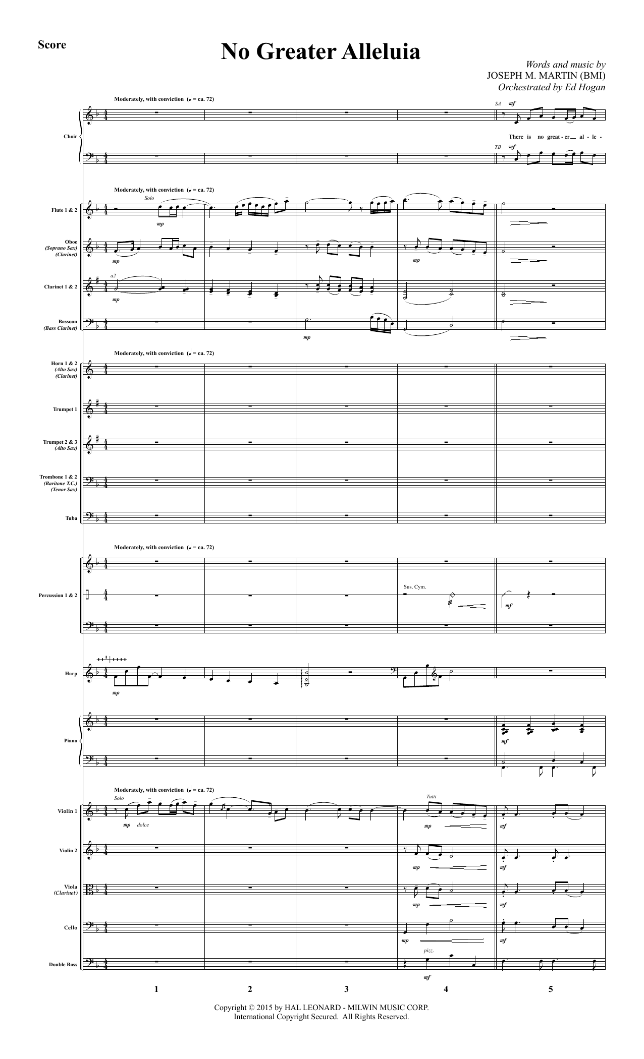 No Greater Alleluia (COMPLETE) sheet music for orchestra/band by Joseph M. Martin. Score Image Preview.
