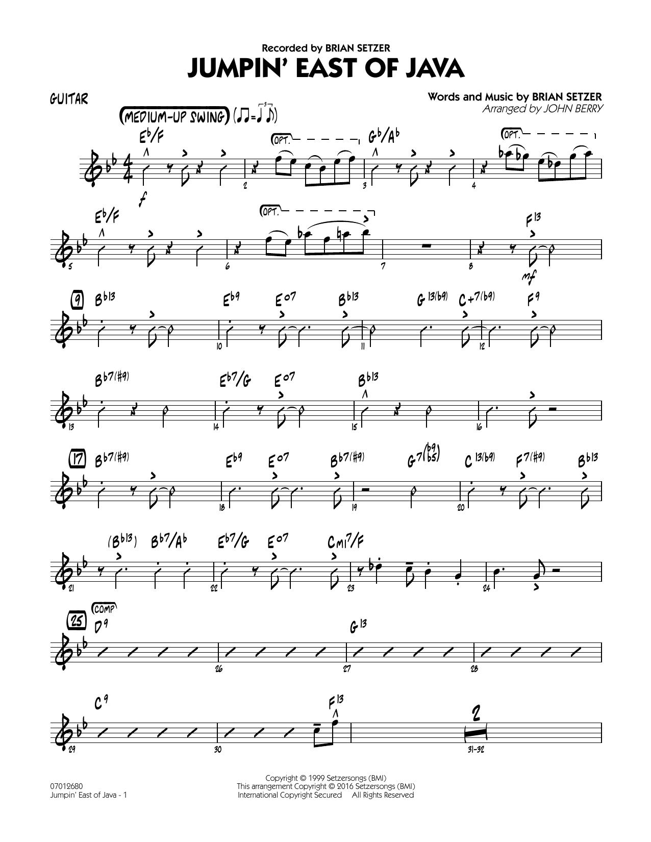 Jumpin' East of Java - Guitar (Jazz Ensemble)
