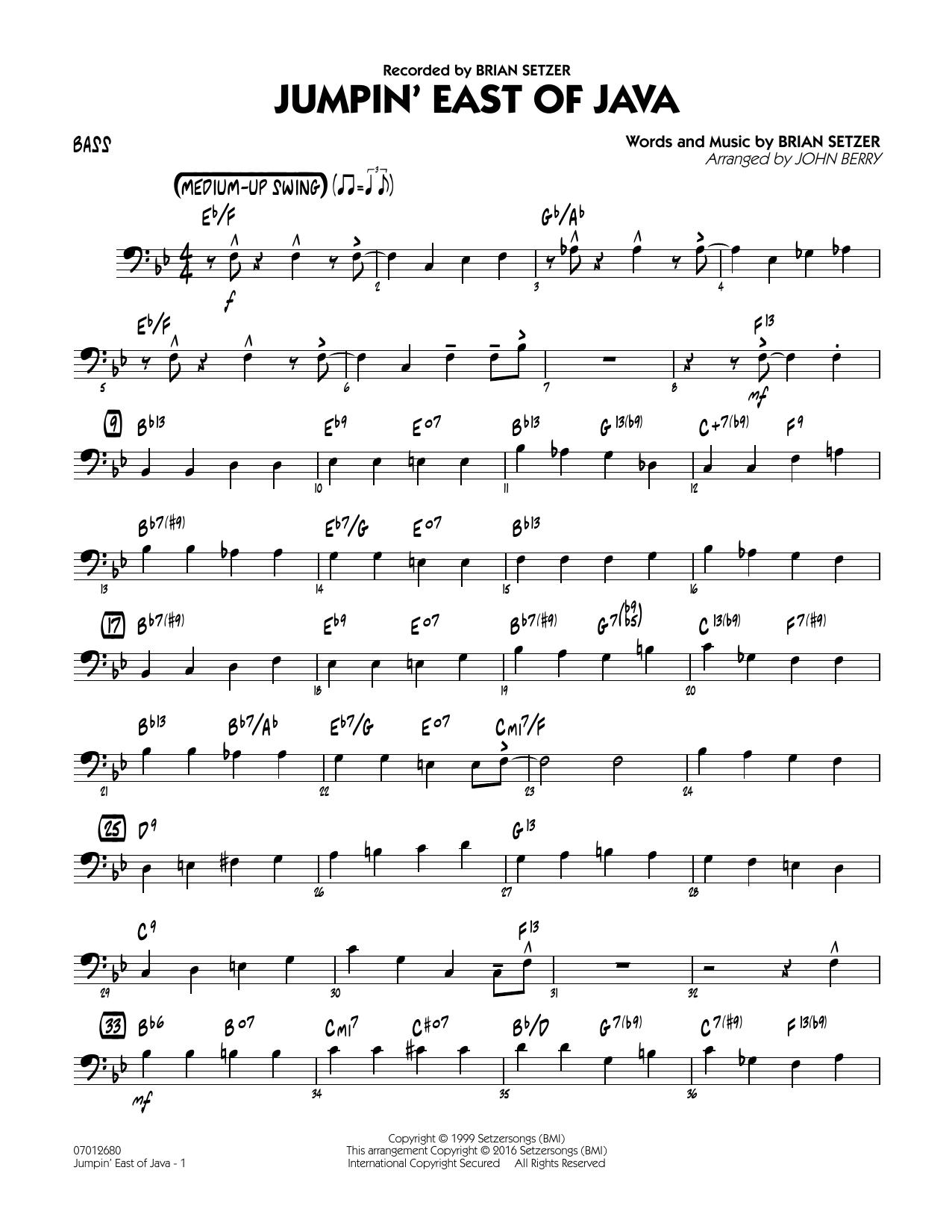 Jumpin' East of Java - Bass (Jazz Ensemble)