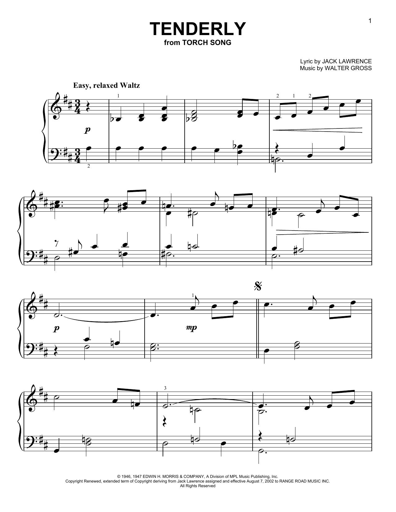 Tenderly (Easy Piano)
