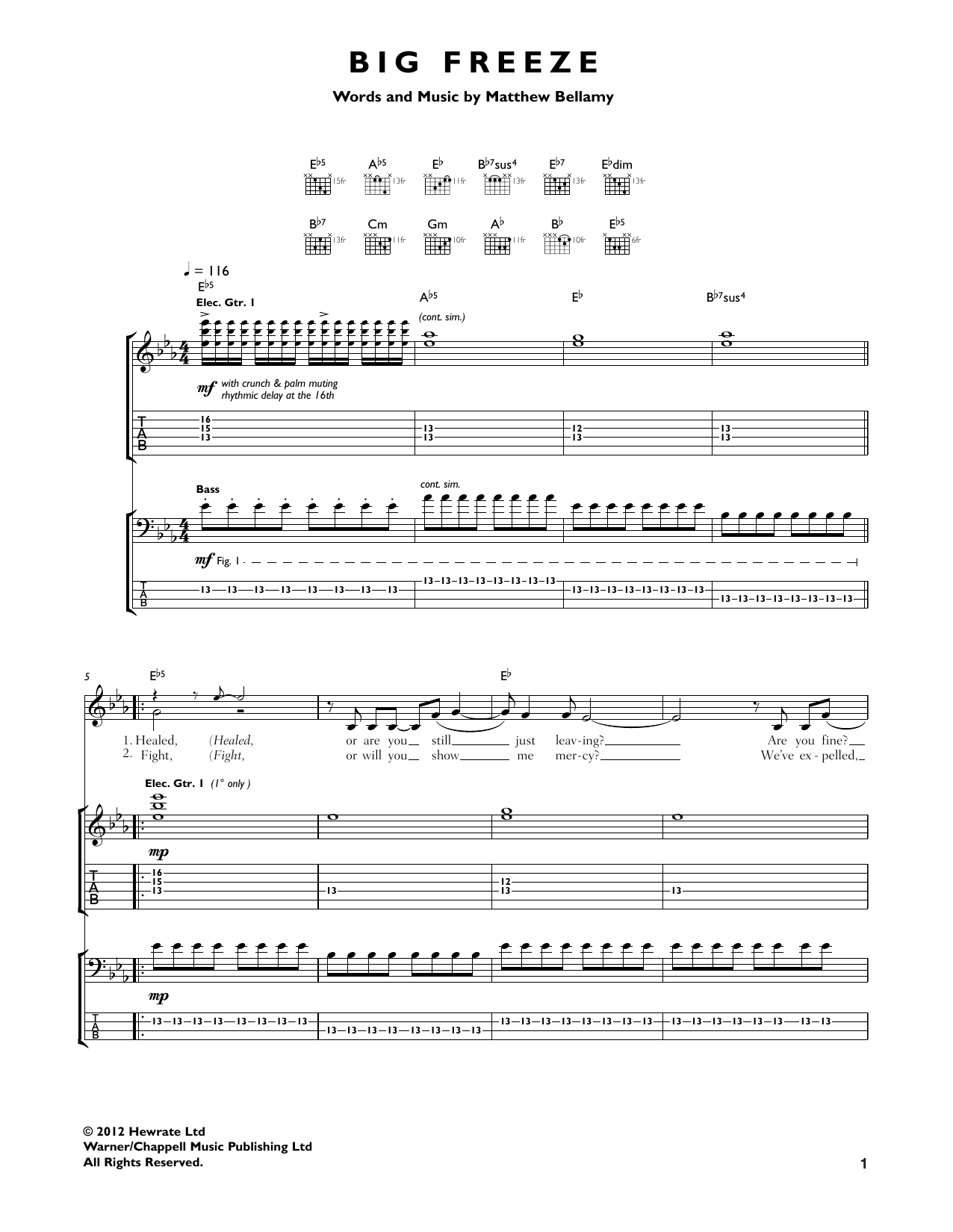 Big Freeze Sheet Music