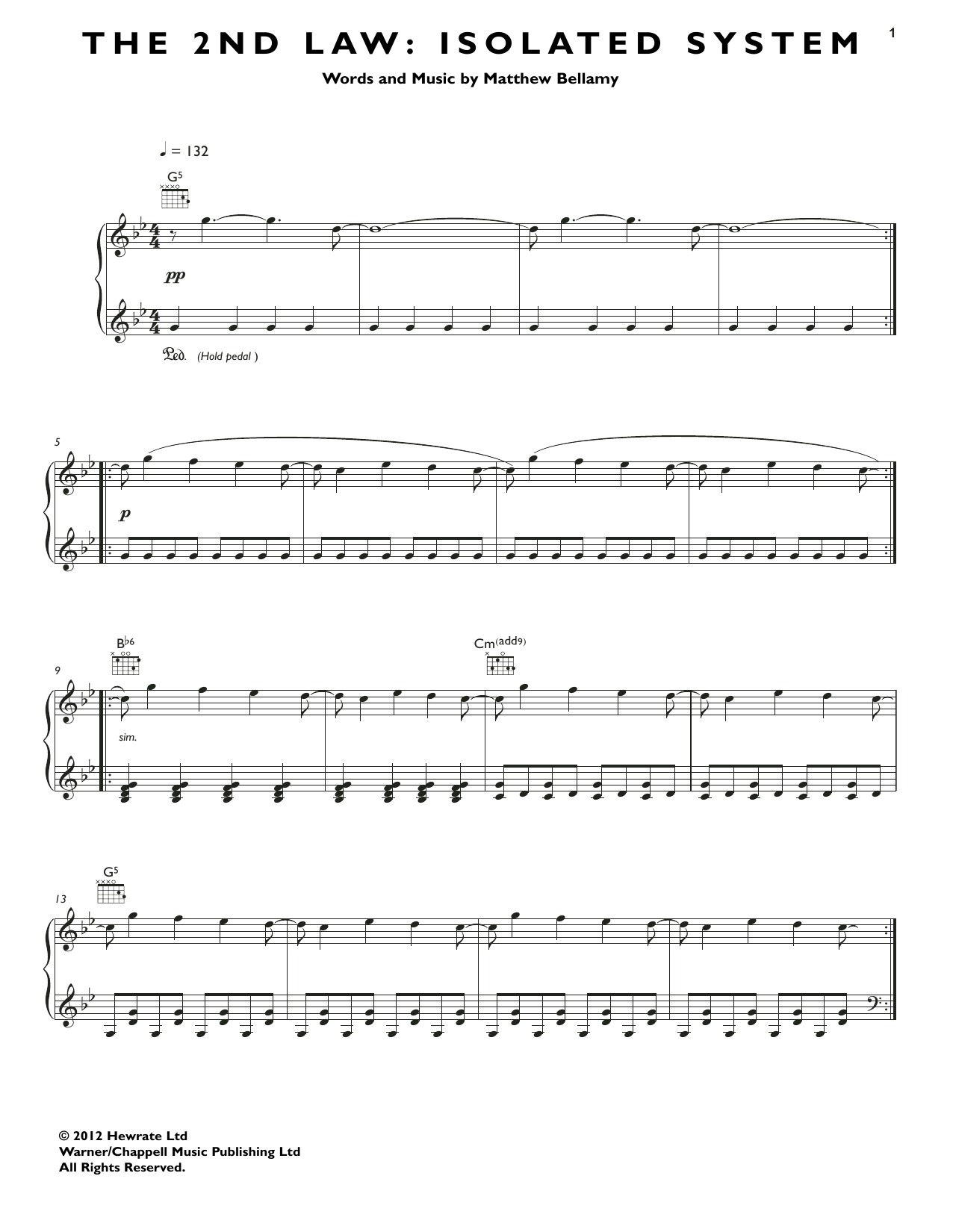 The 2nd Law: Isolated System Sheet Music