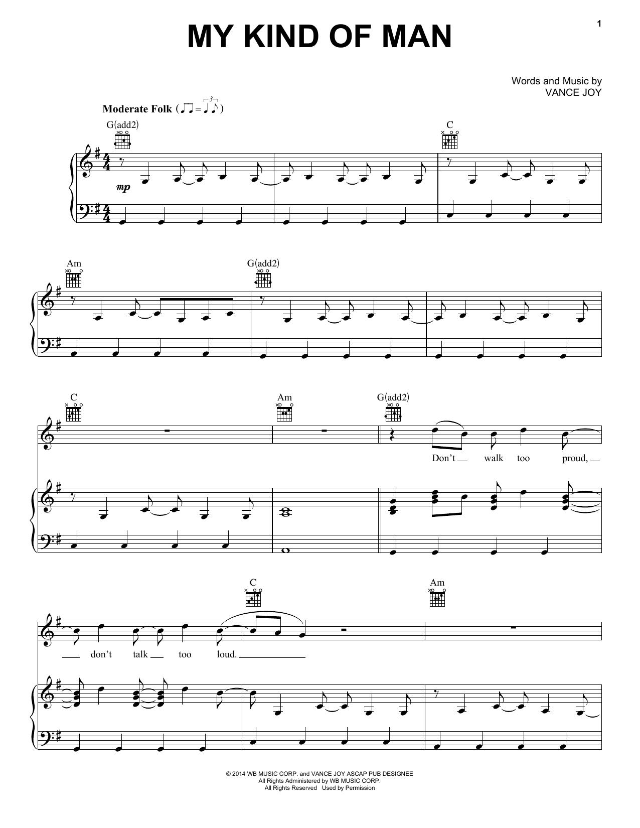 My Kind Of Man Sheet Music