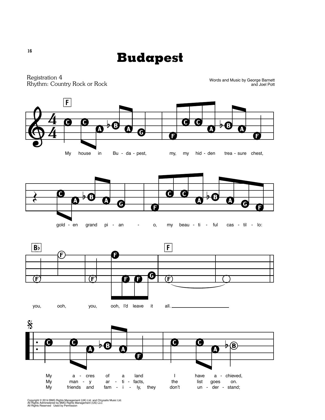 Budapest (E-Z Play Today)