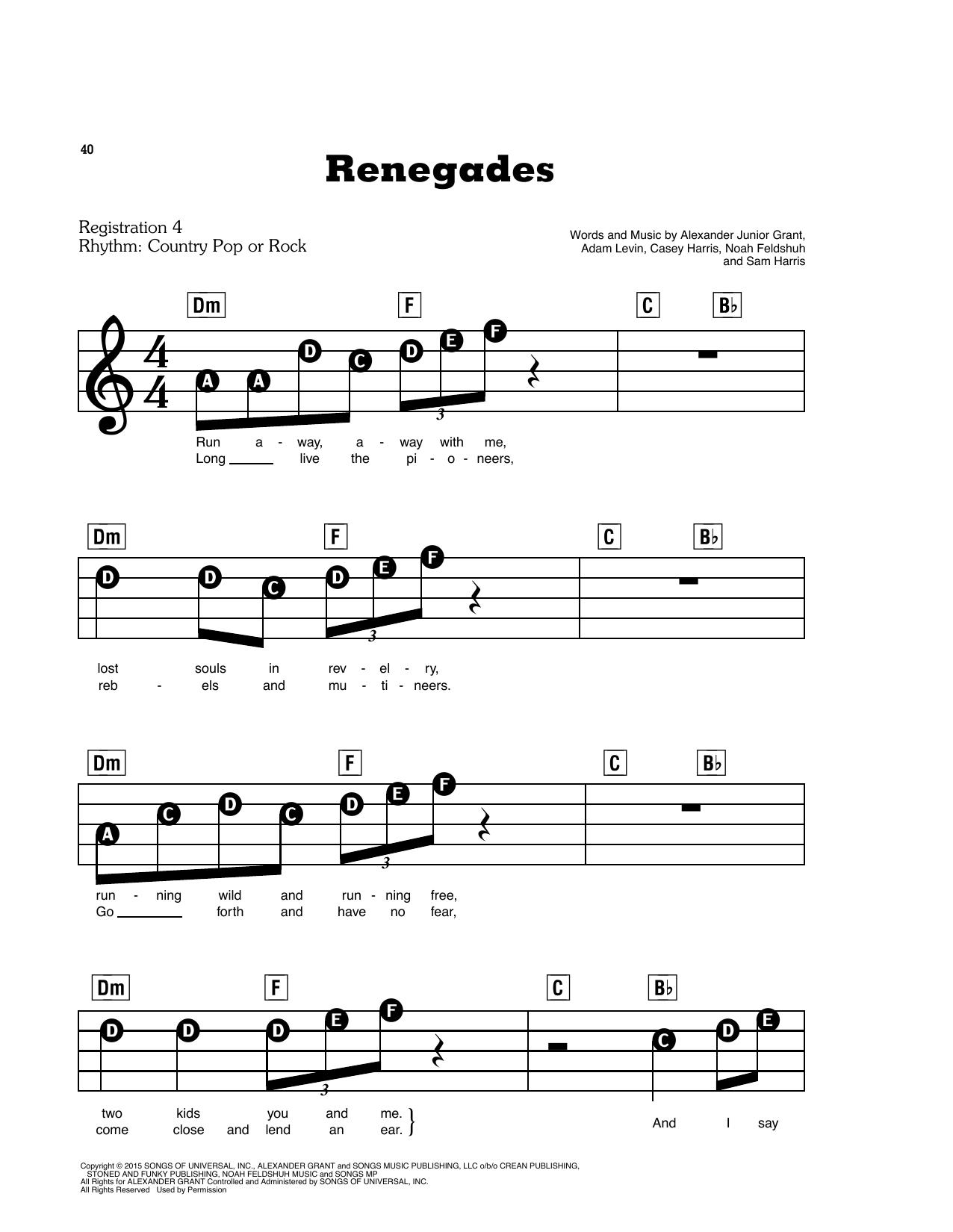 Renegades (E-Z Play Today)