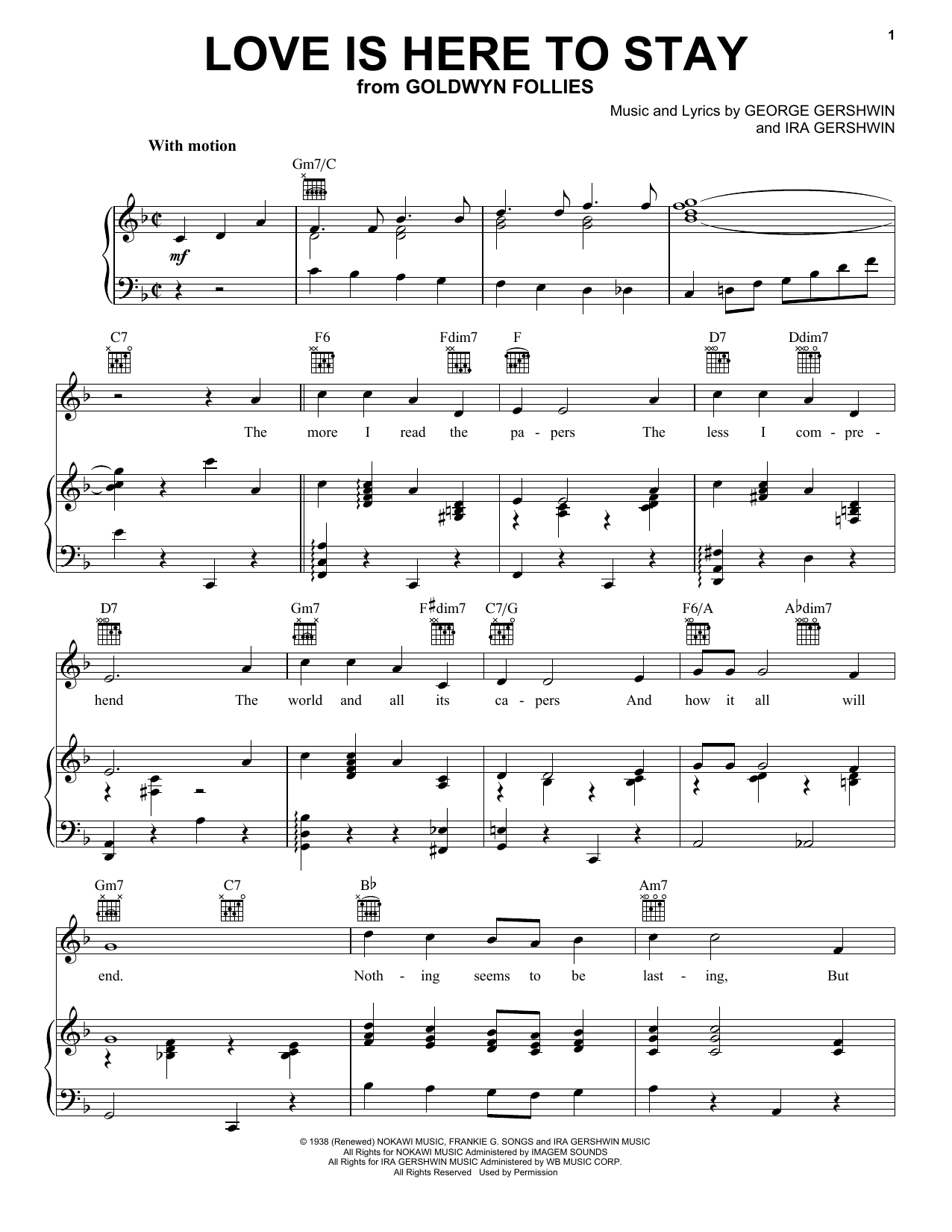 Love Is Here To Stay Sheet Music