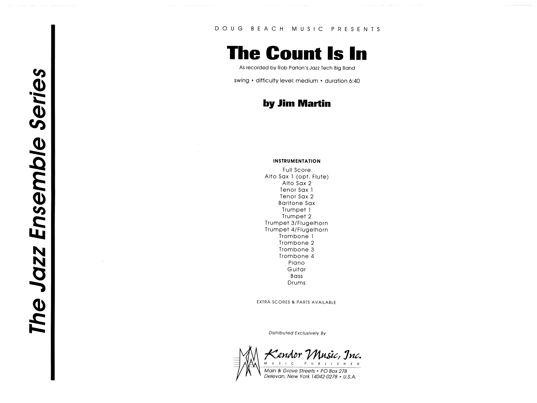 The Count Is In (COMPLETE) sheet music for jazz band by Martin. Score Image Preview.