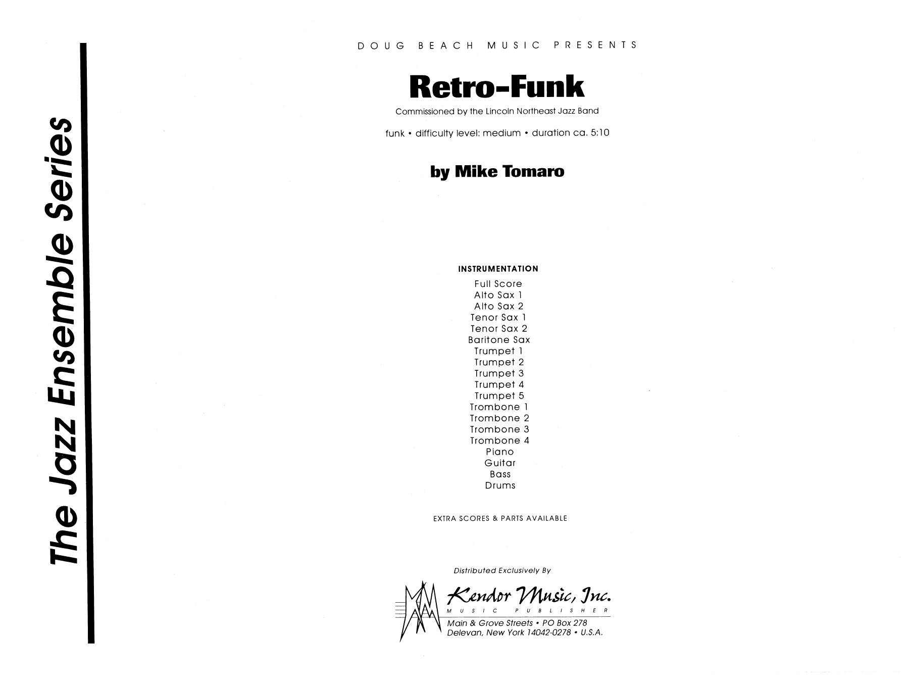 Retro-Funk (COMPLETE) sheet music for jazz band by Mike Tomaro. Score Image Preview.