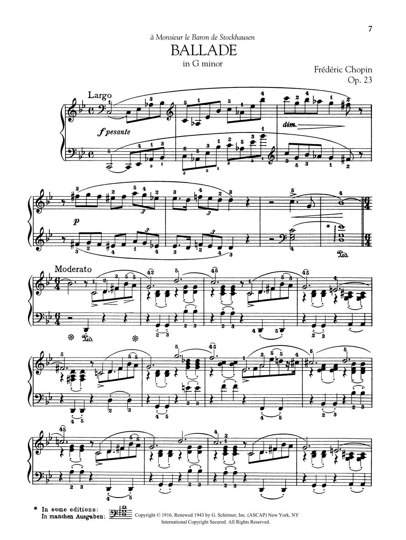Ballade in G minor, Op. 23 Sheet Music