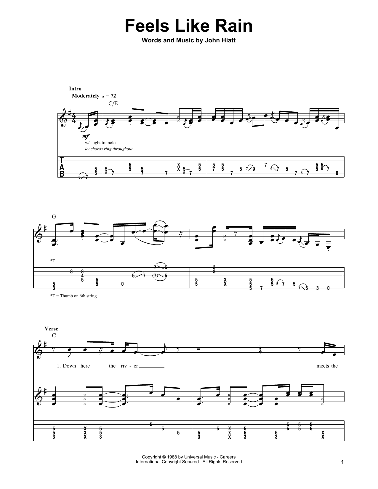 Feels like rain sheet music by buddy guy guitar tab play along feels like rain sheet music hexwebz Choice Image